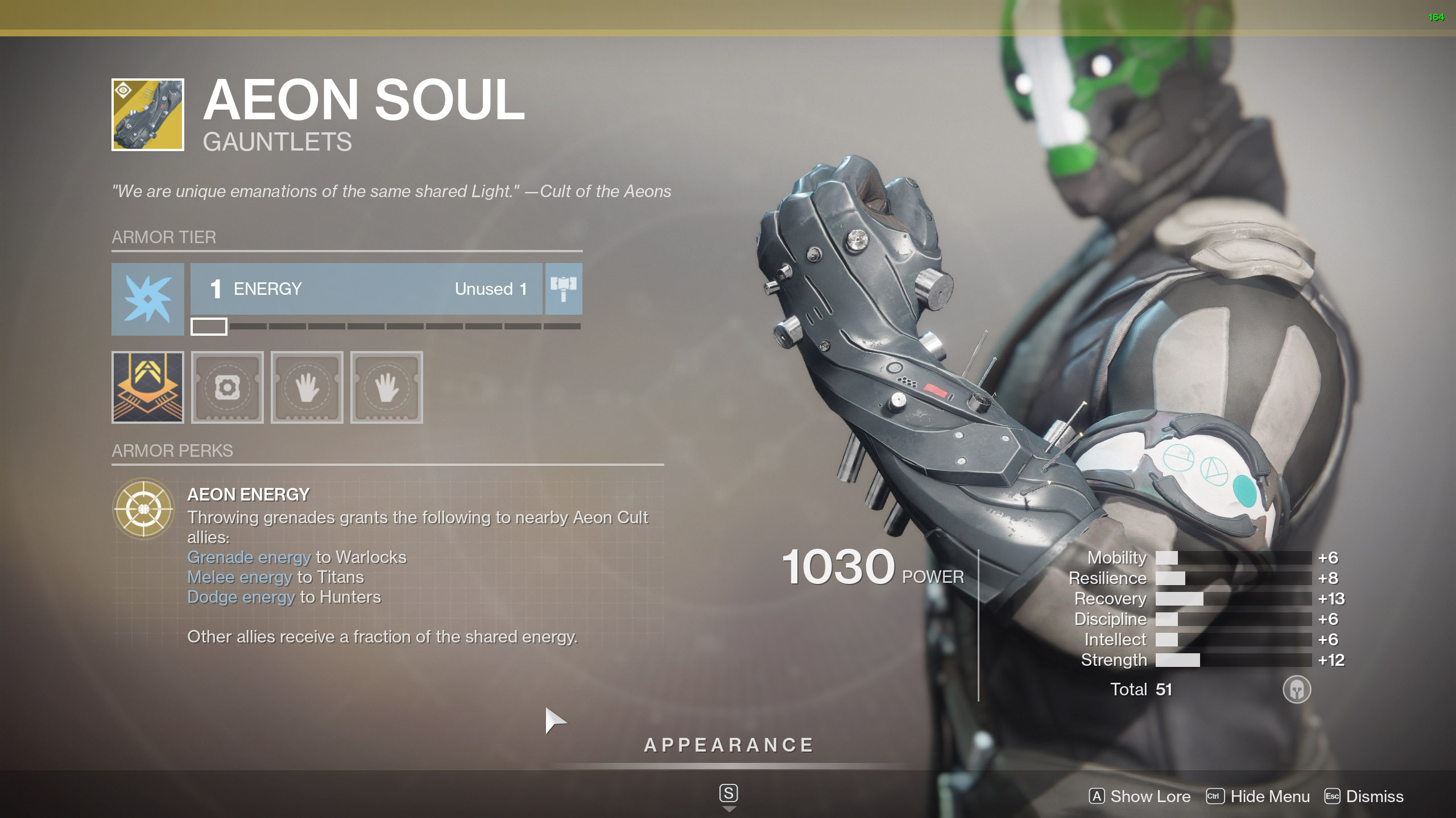 Destiny 2 Warlock Exotic Armor Aeon Soul