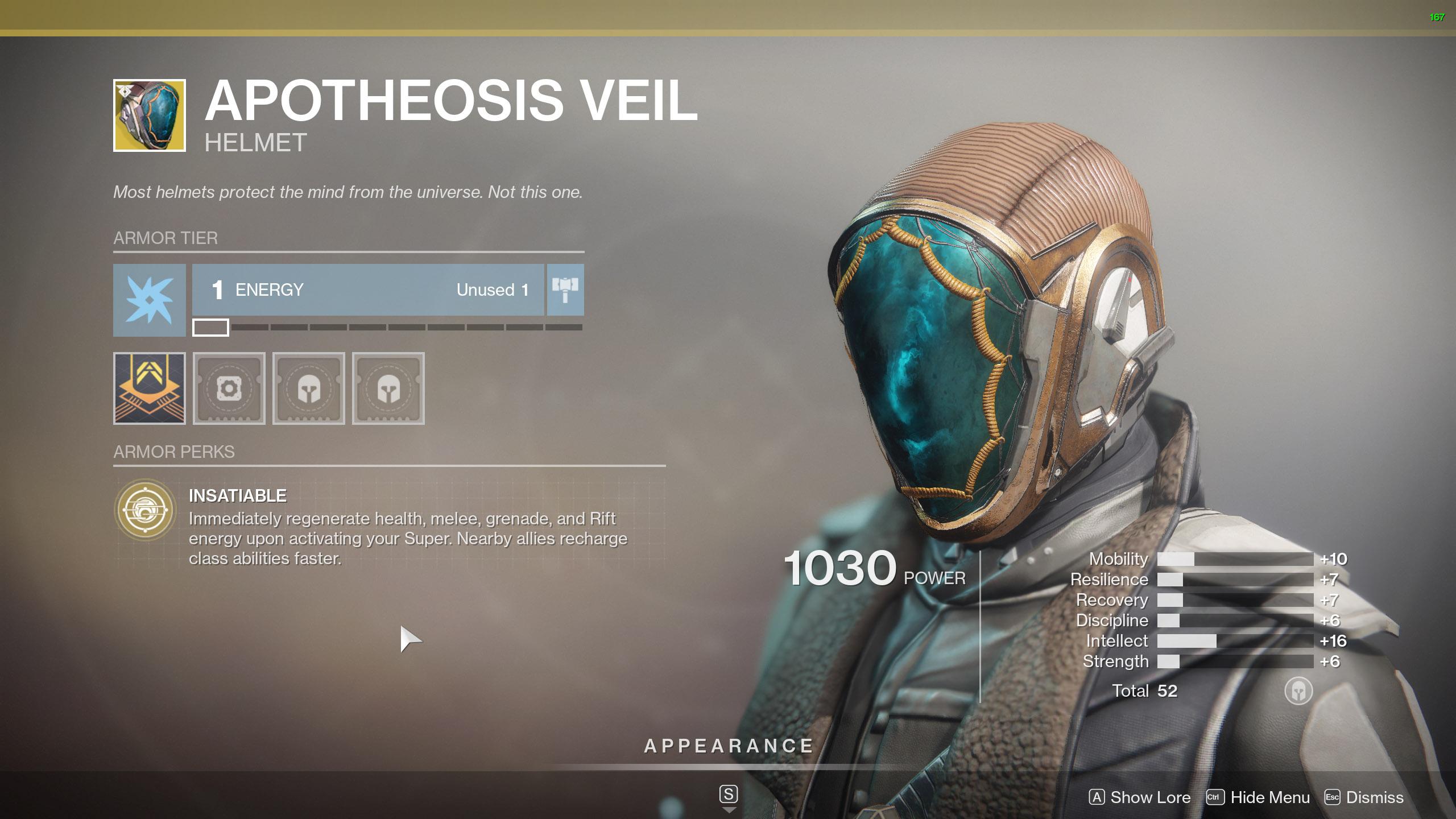 Destiny 2 Warlock Exotic Armor Apotheosis Veil