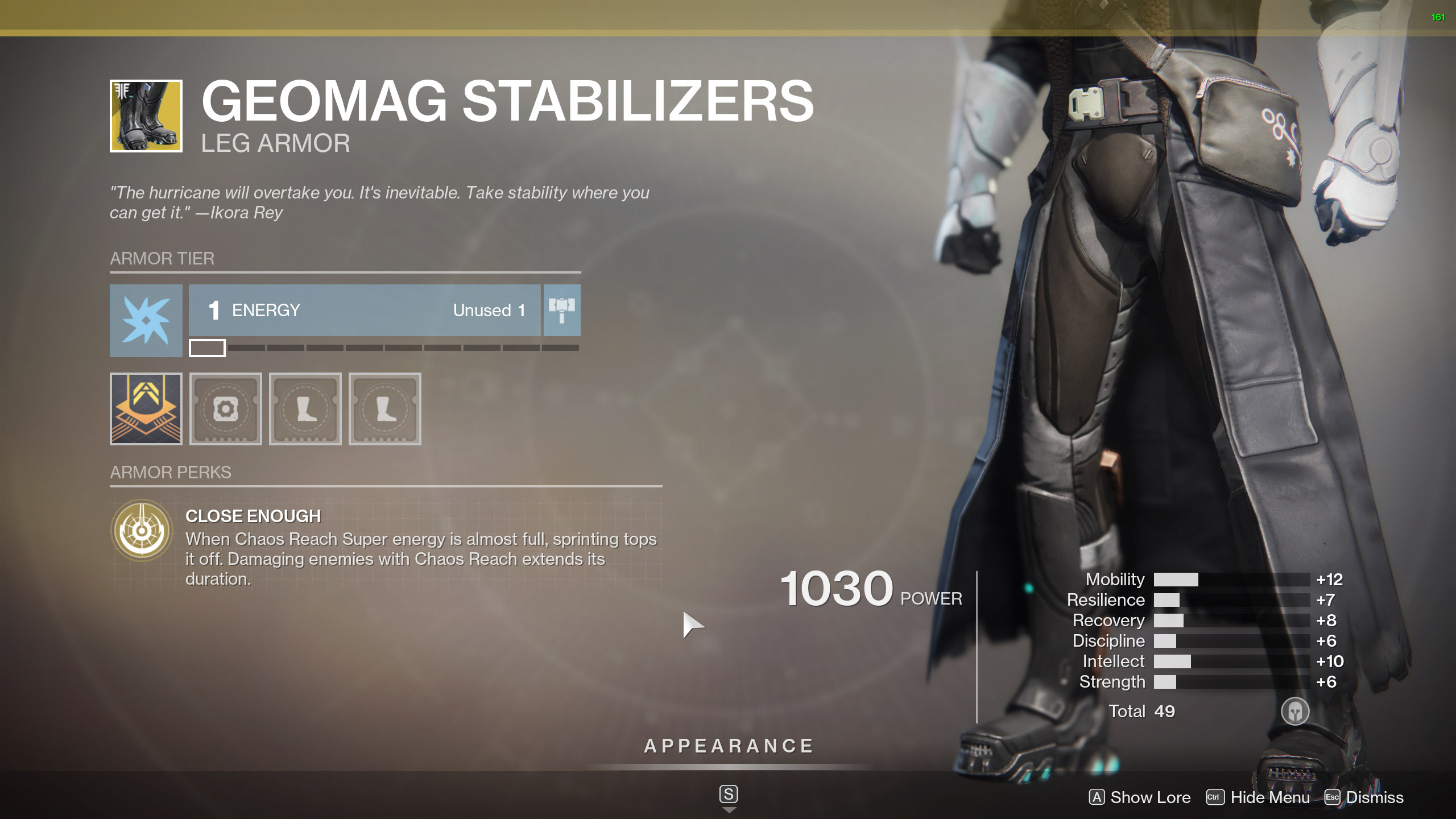 Destiny 2 Exotic Warlock Armor Geomag Stabilizers
