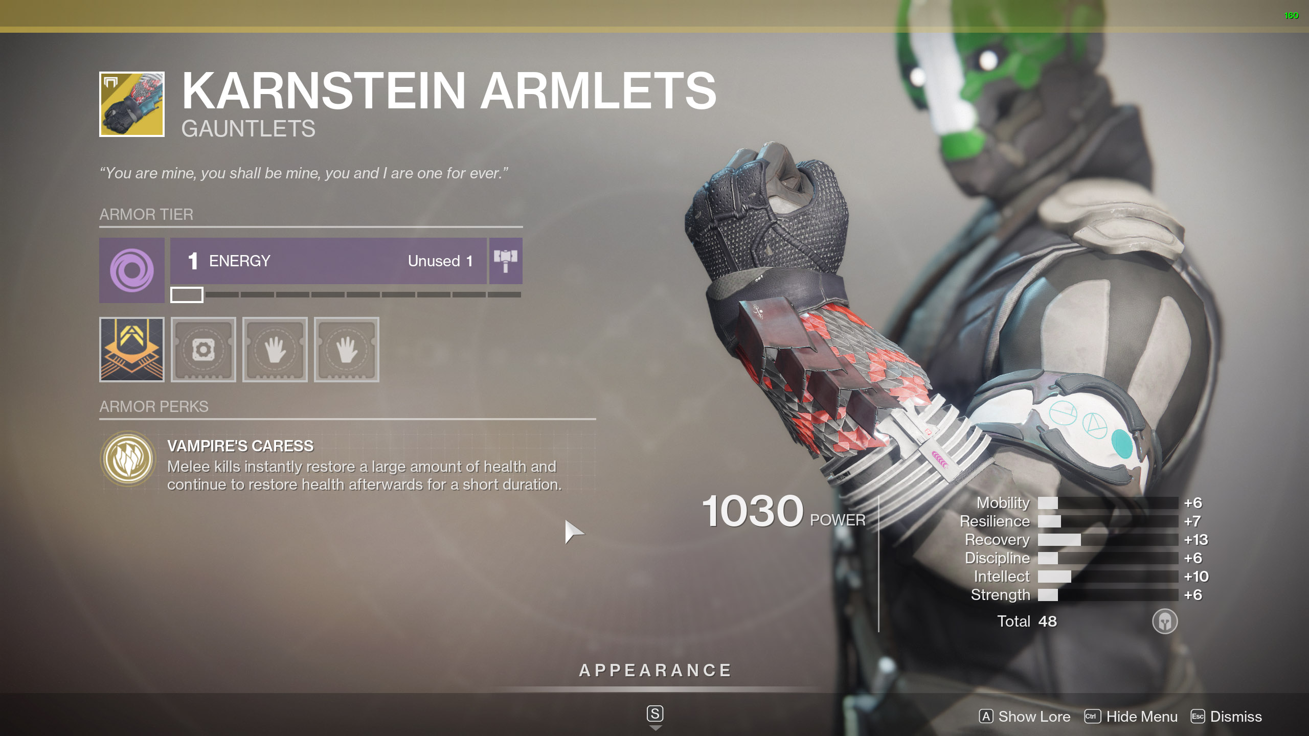 Destiny 2 Warlock Exotic Armor Karnstein Armlets