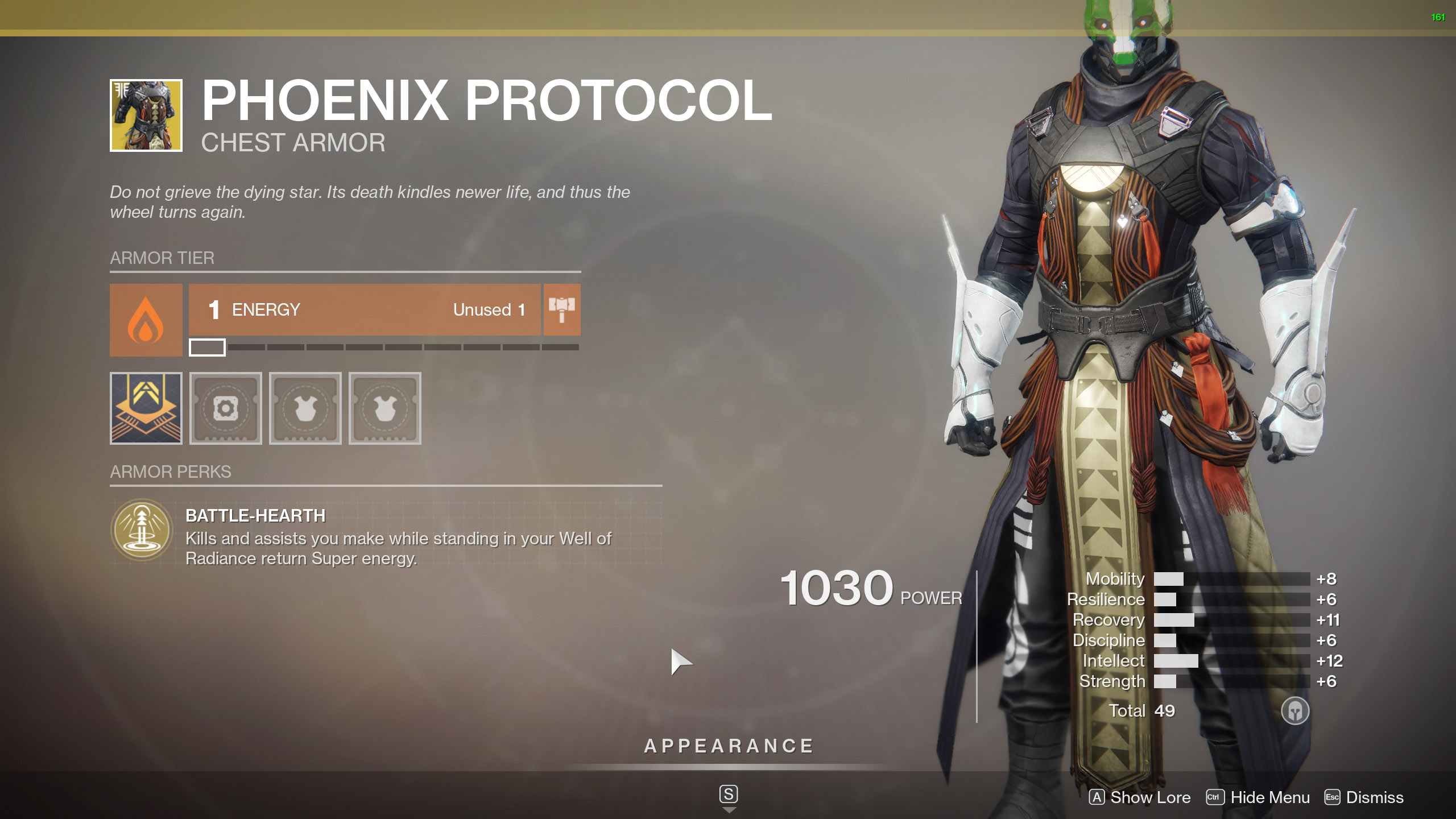 Destiny 2 Exotic Warlock Armor Phoenix Protocol