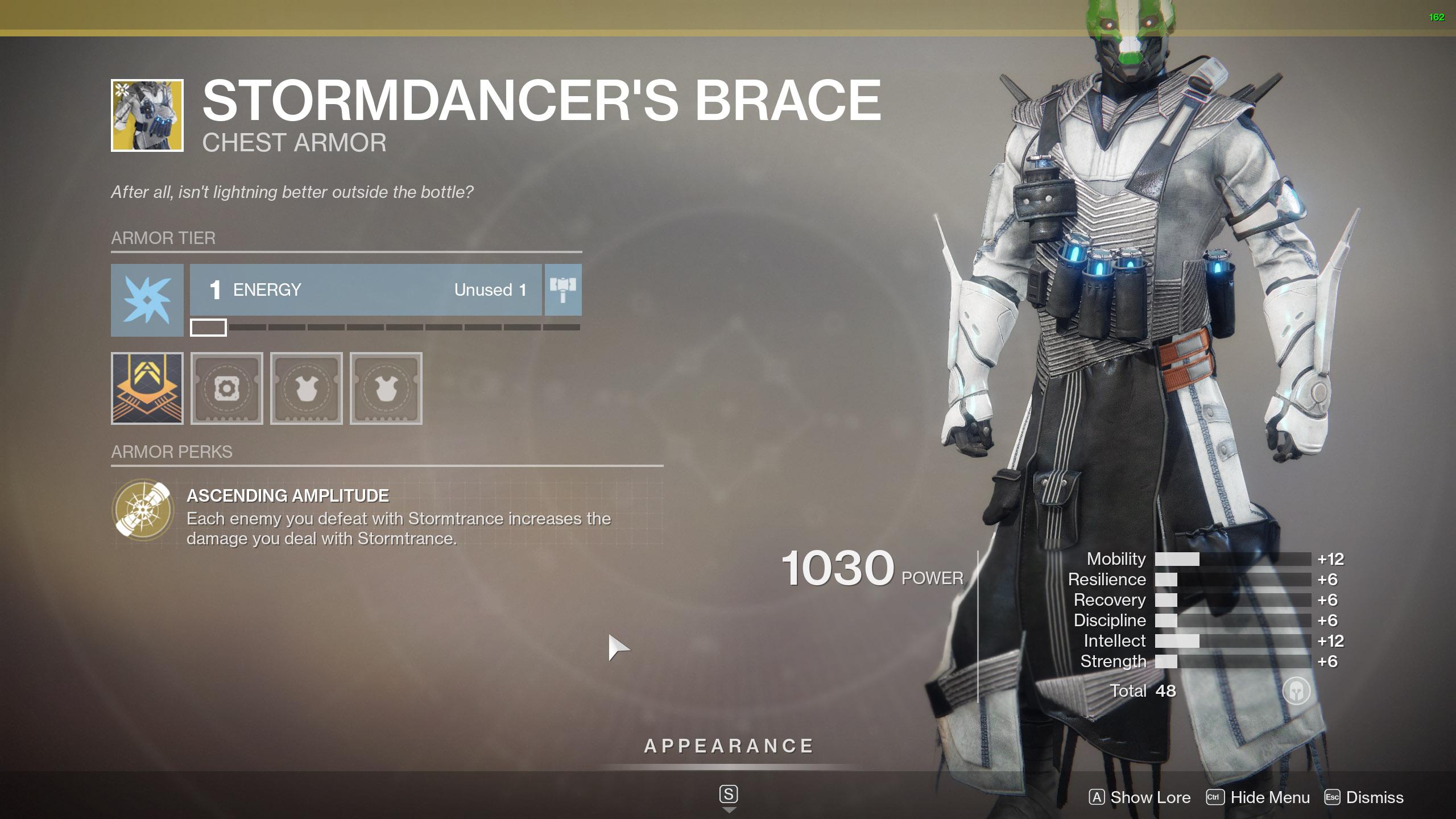 Destiny 2 Warlock Exotic Armor Stormdancers Brace