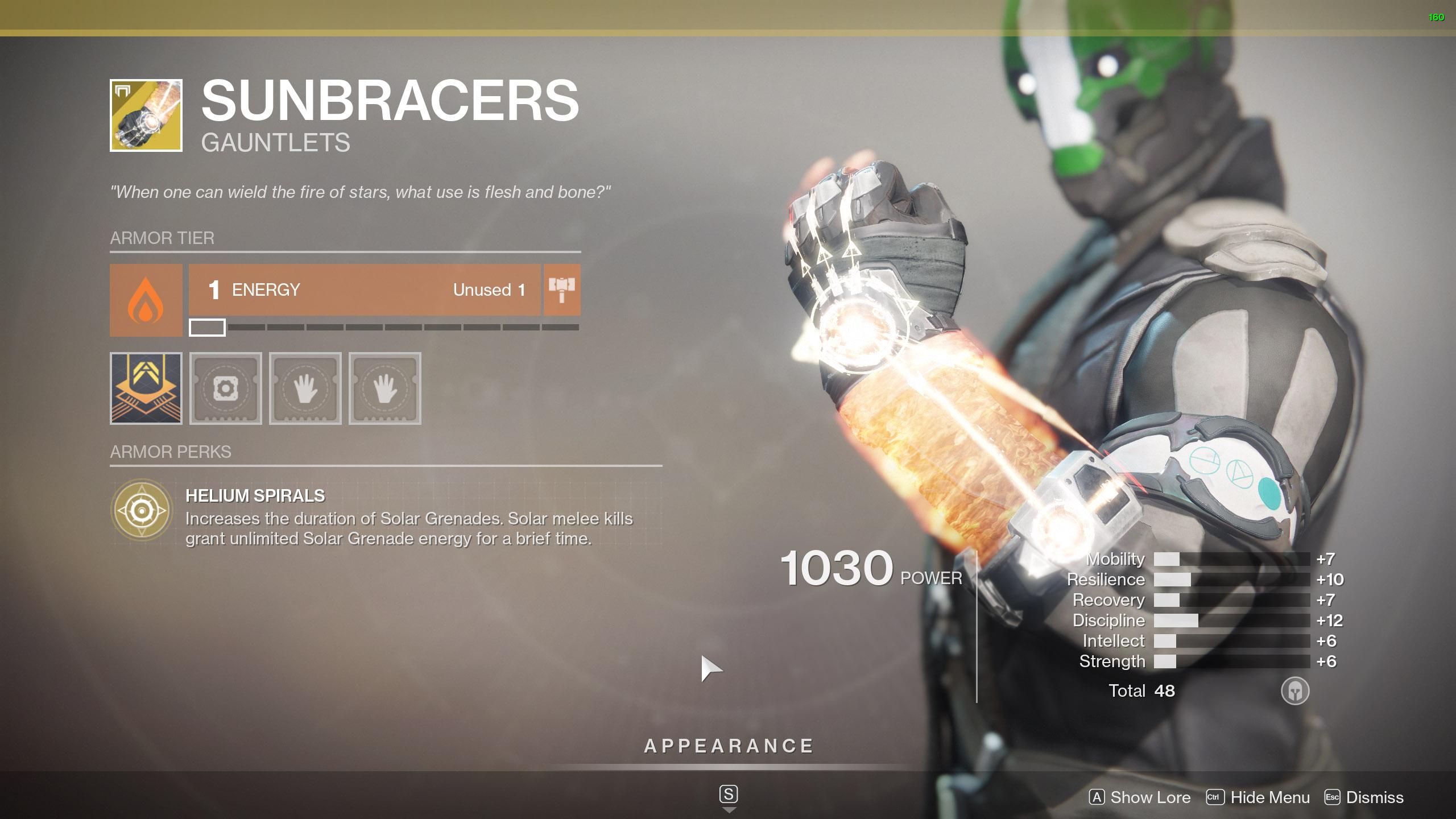 Destiny 2 Warlock Exotic Armor Sunbracers