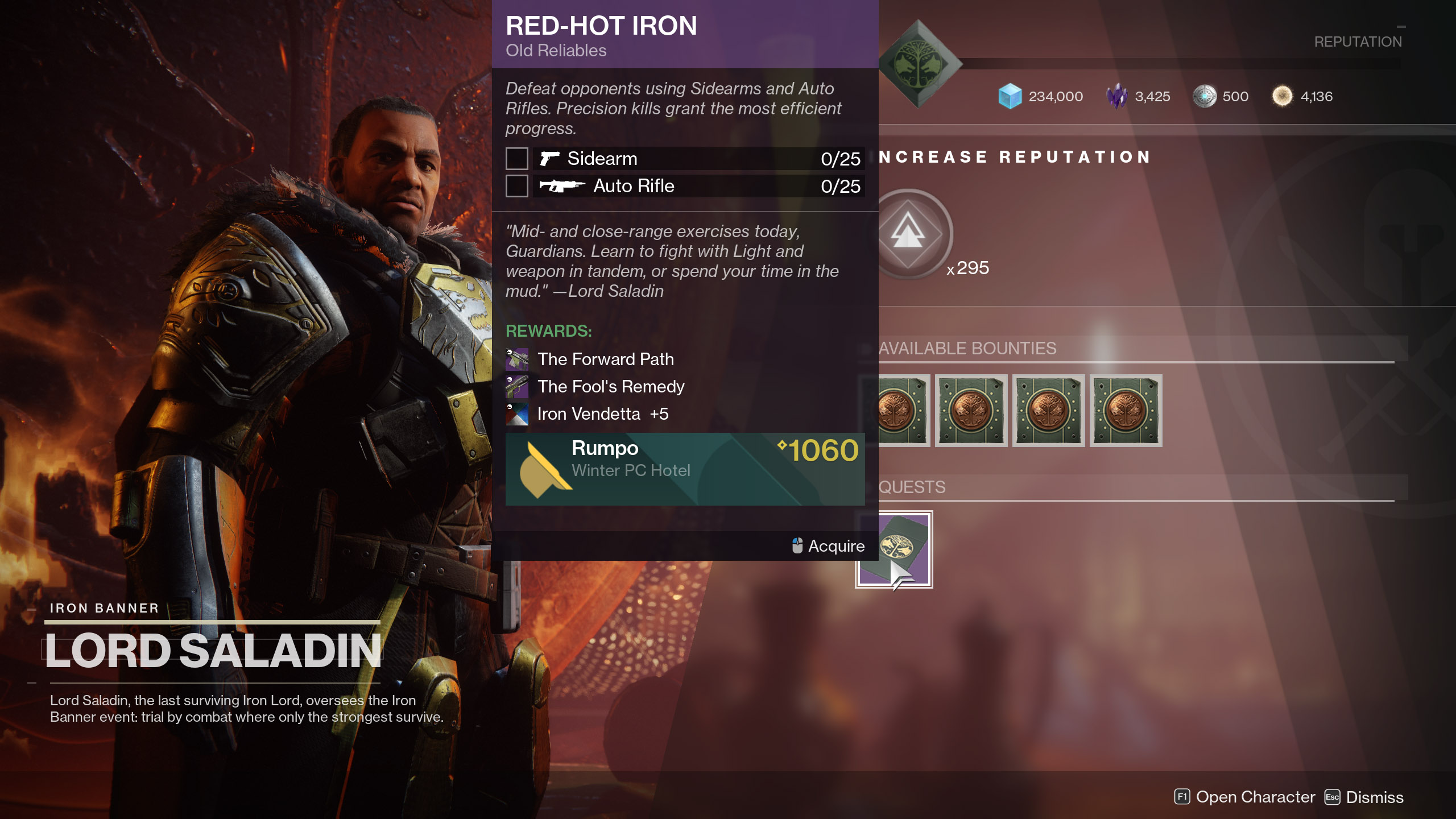 Iron Banner Red-Hot Iron Quest