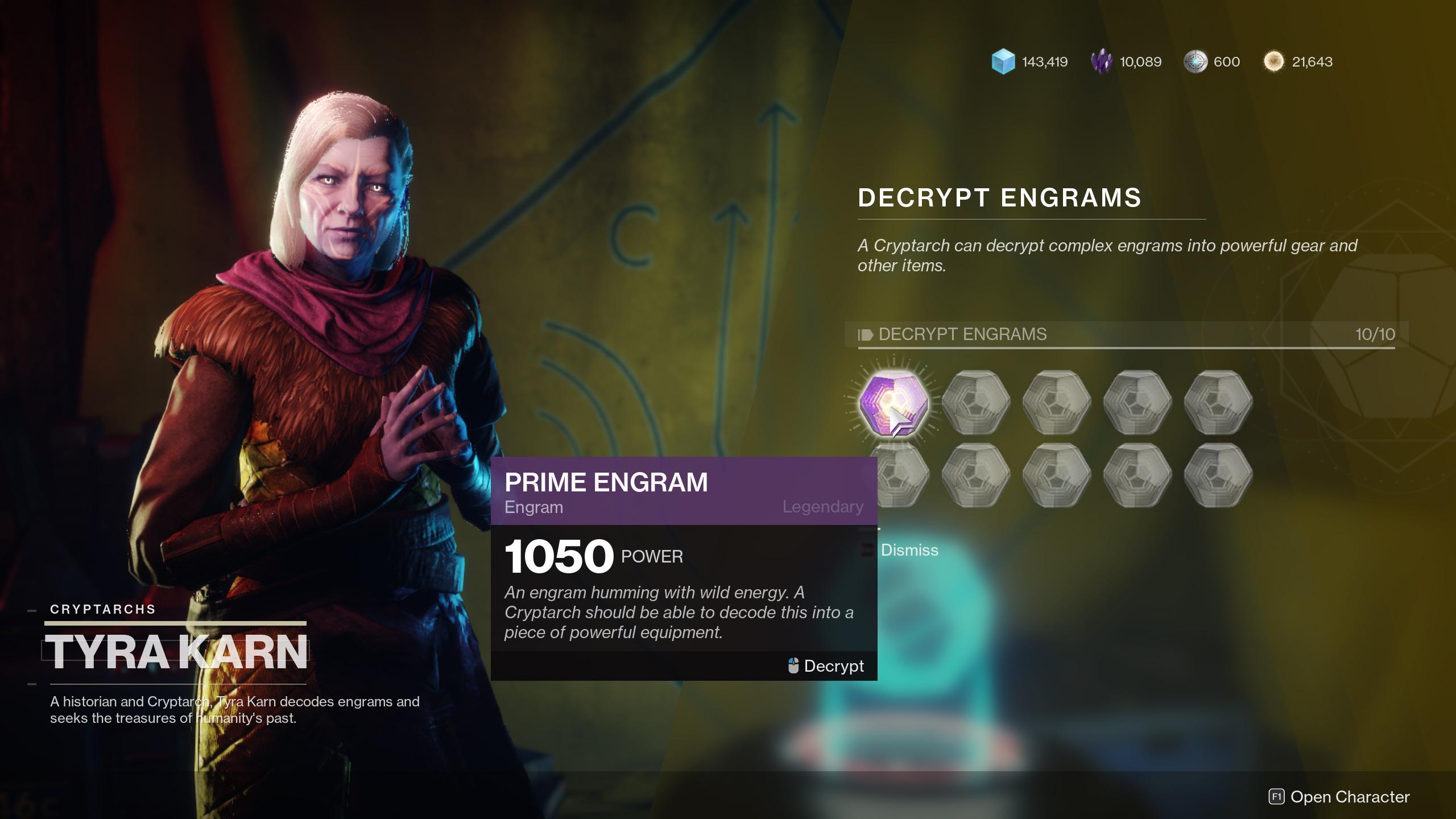 destiny 2 open engrams