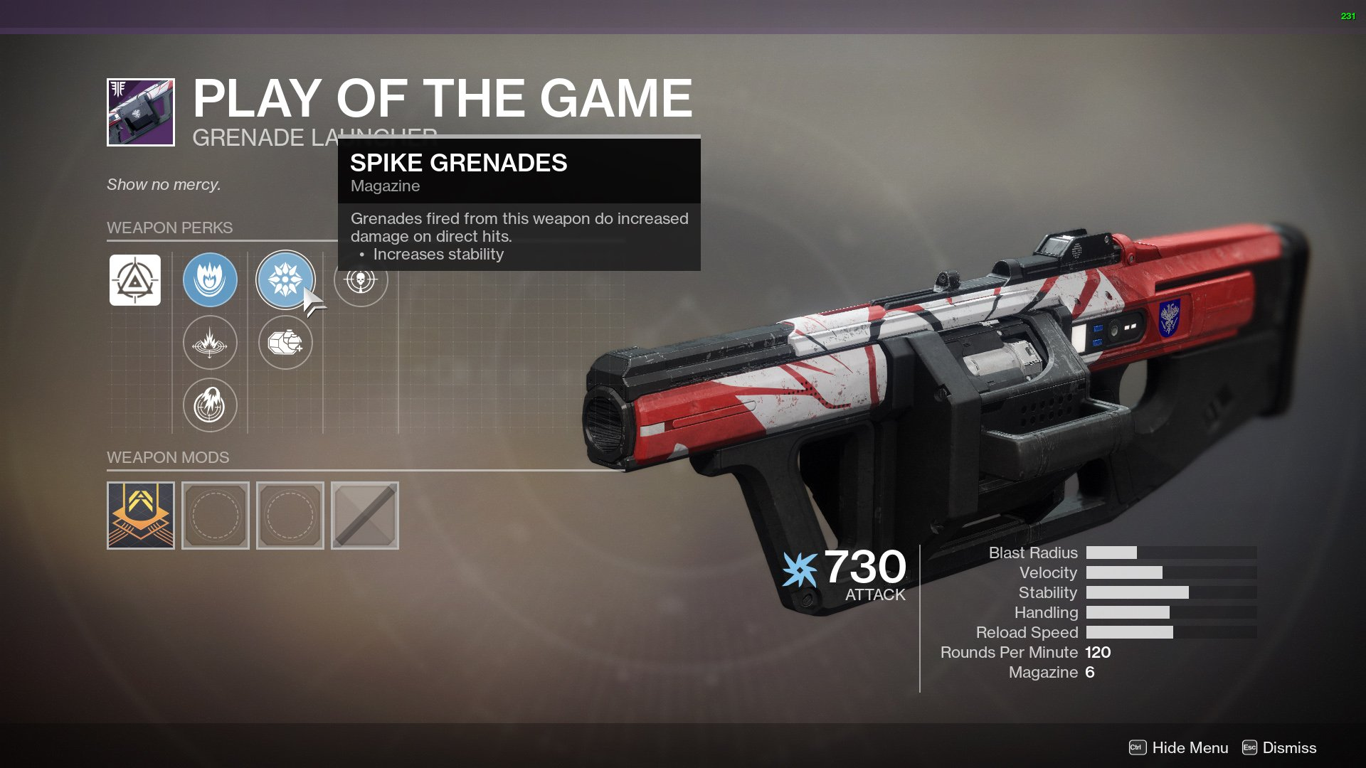 destiny 2 play of the game grenade launcher