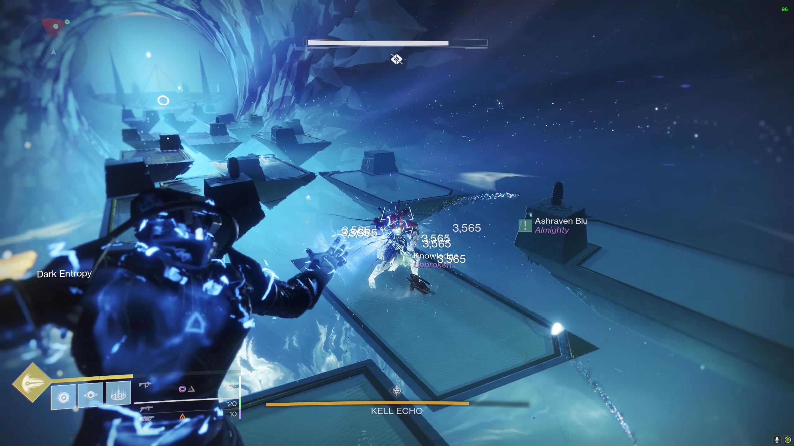 Destiny 2 Prophecy dungeon Kell Echo hallway