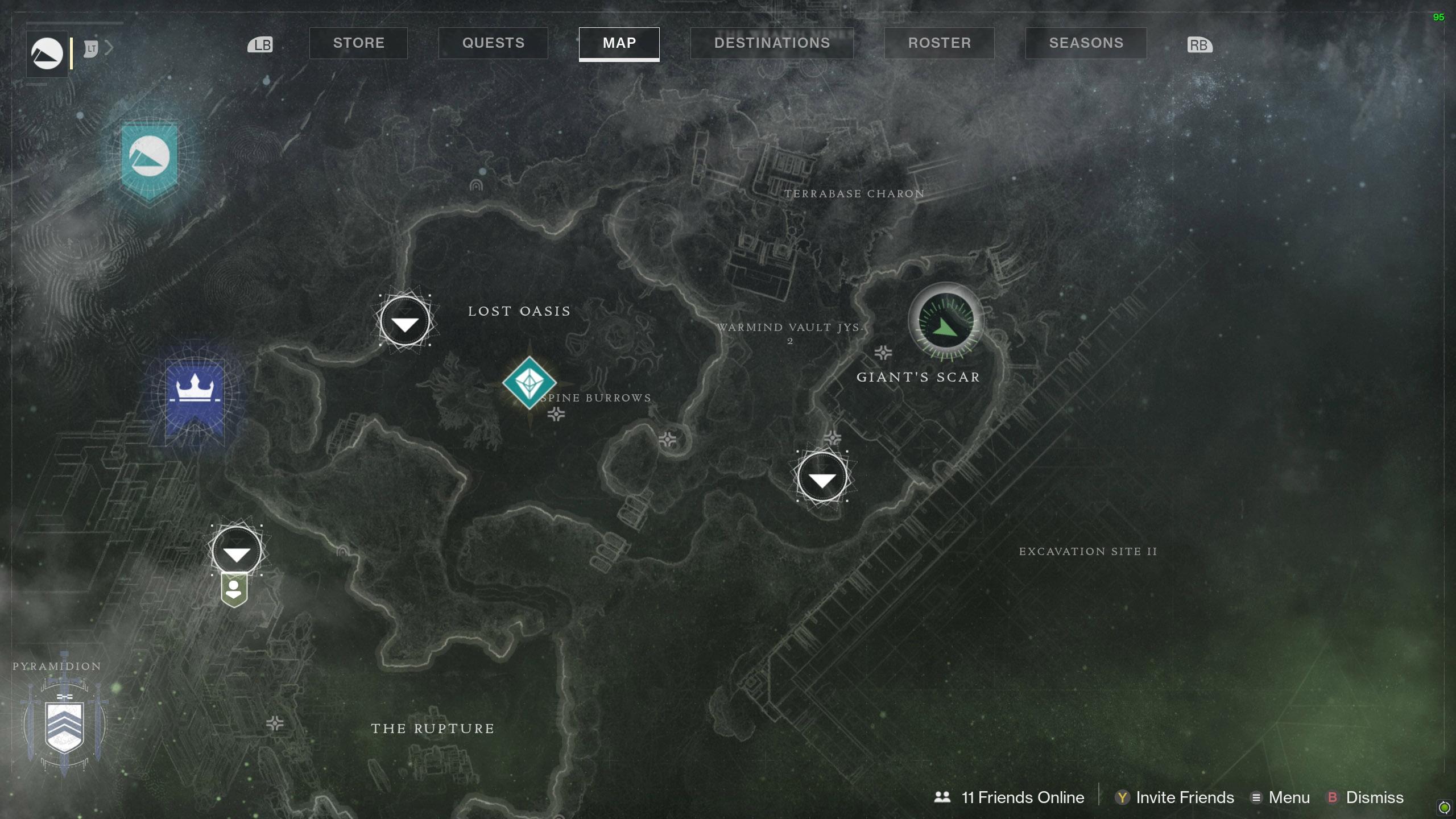 Destiny 2 Savanthuns Eyes Io Giant's Scar map