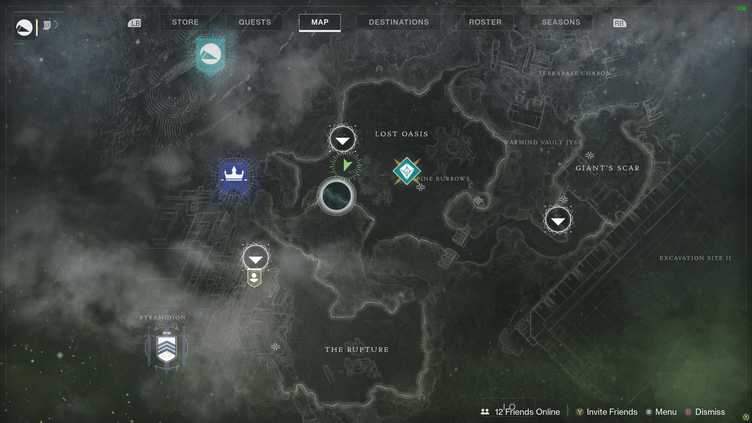 Destiny 2 Savanthuns Eyes Io Lost Oasis 1 map
