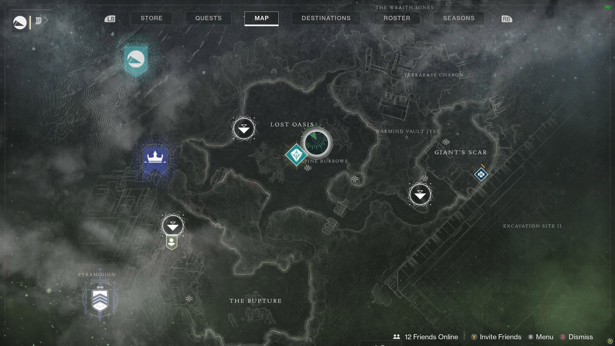 Destiny 2 Savanthuns Eyes Io Lost Oasis 2 map