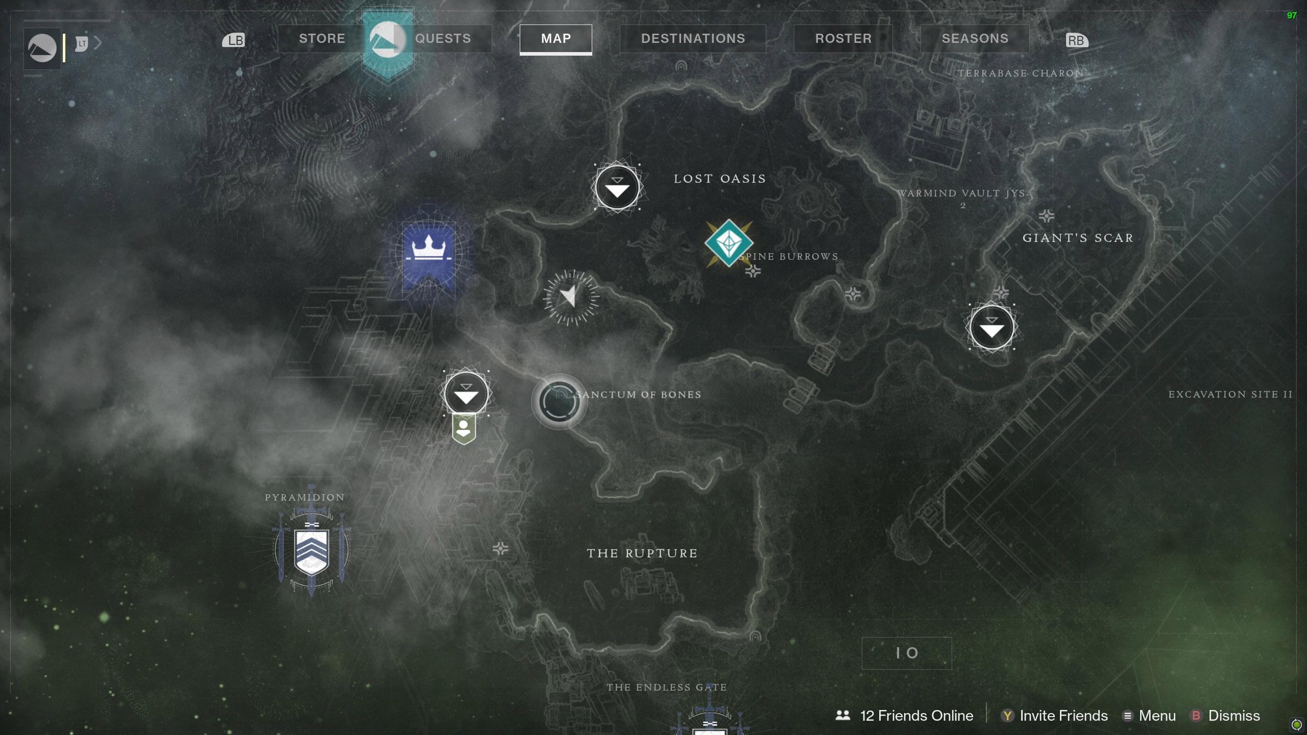 Destiny 2 Savanthuns Eyes Io Sanctum of Bones map
