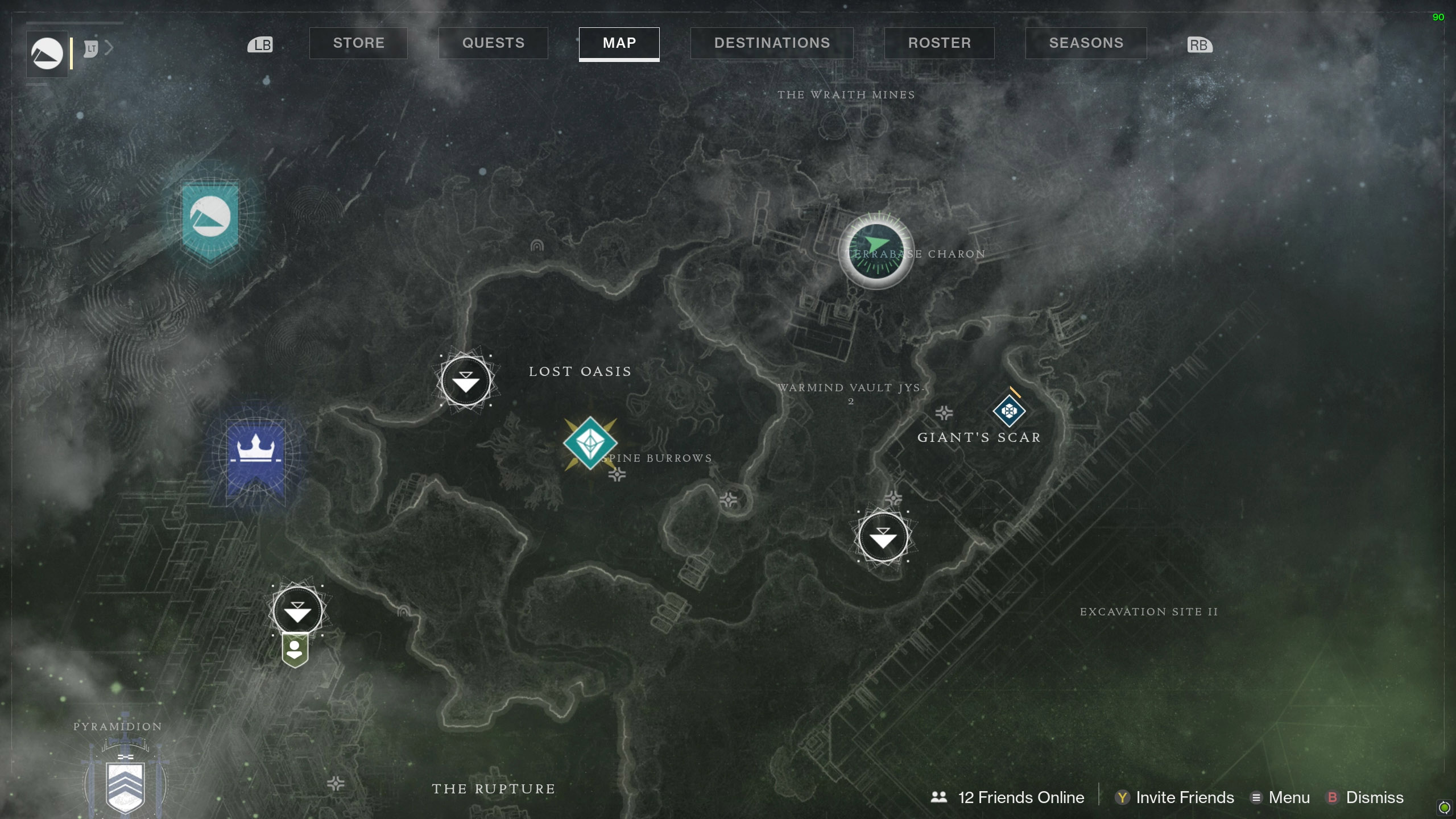 Destiny 2 Savanthuns Eyes Io Terrabase Charon map