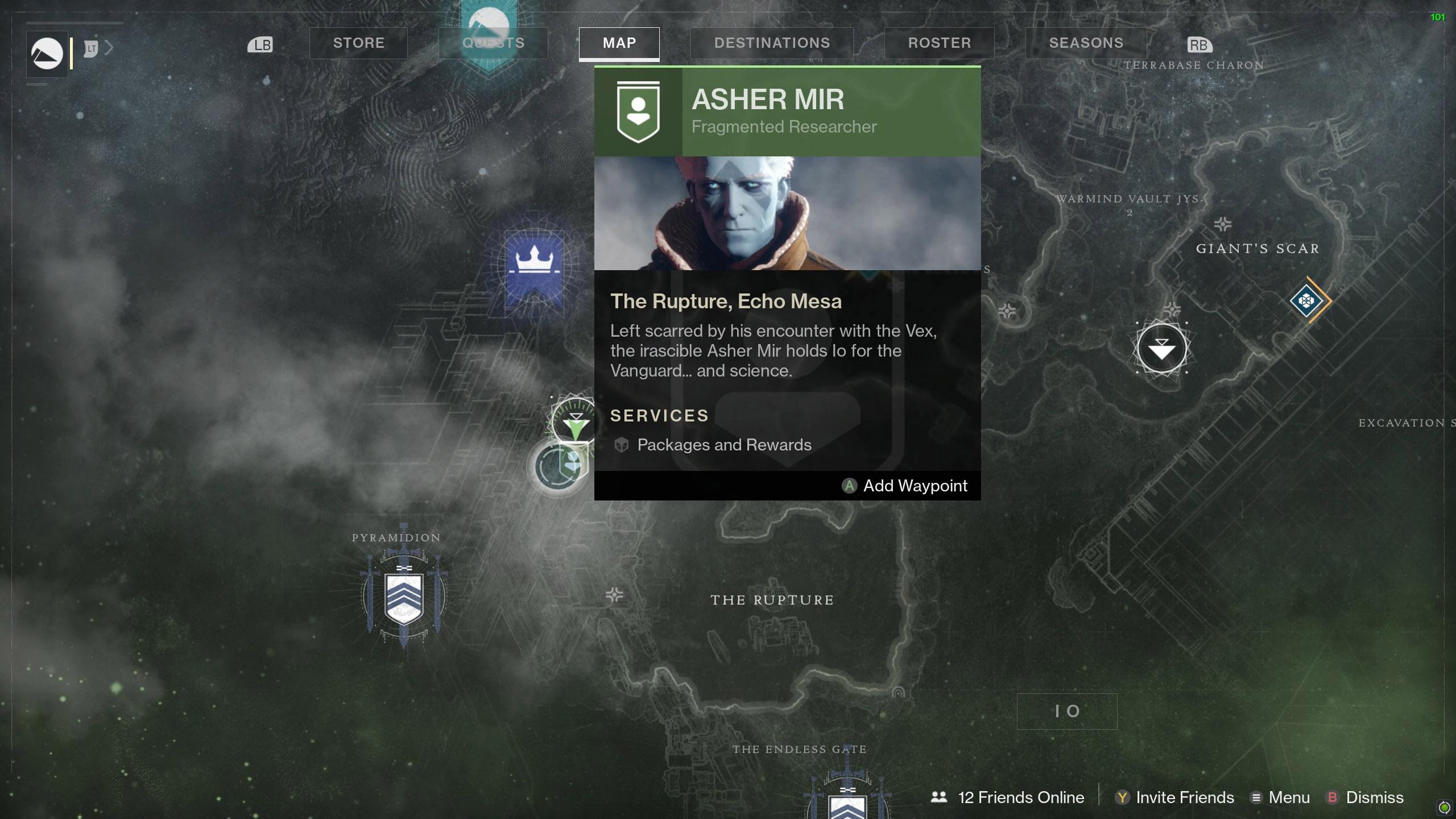 Destiny 2 Savanthuns Eyes Io The Rupture 1 map