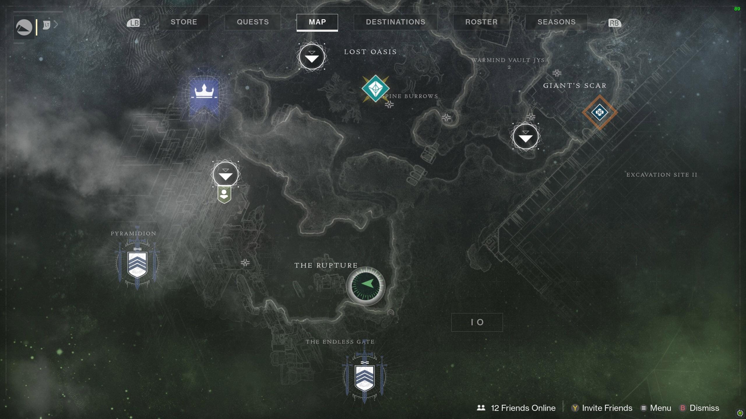 Destiny 2 Savanthuns Eyes Io The Rupture 2 map