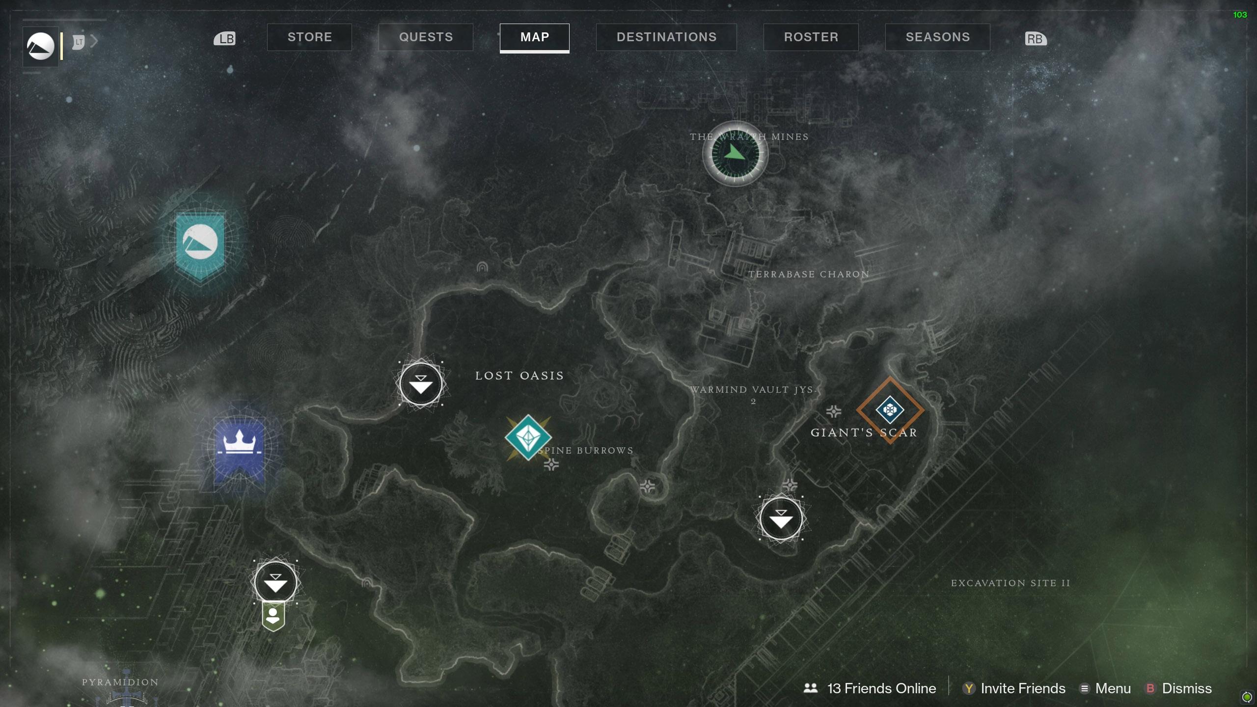 Destiny 2 Savanthuns Eyes Io Wraith Mines map