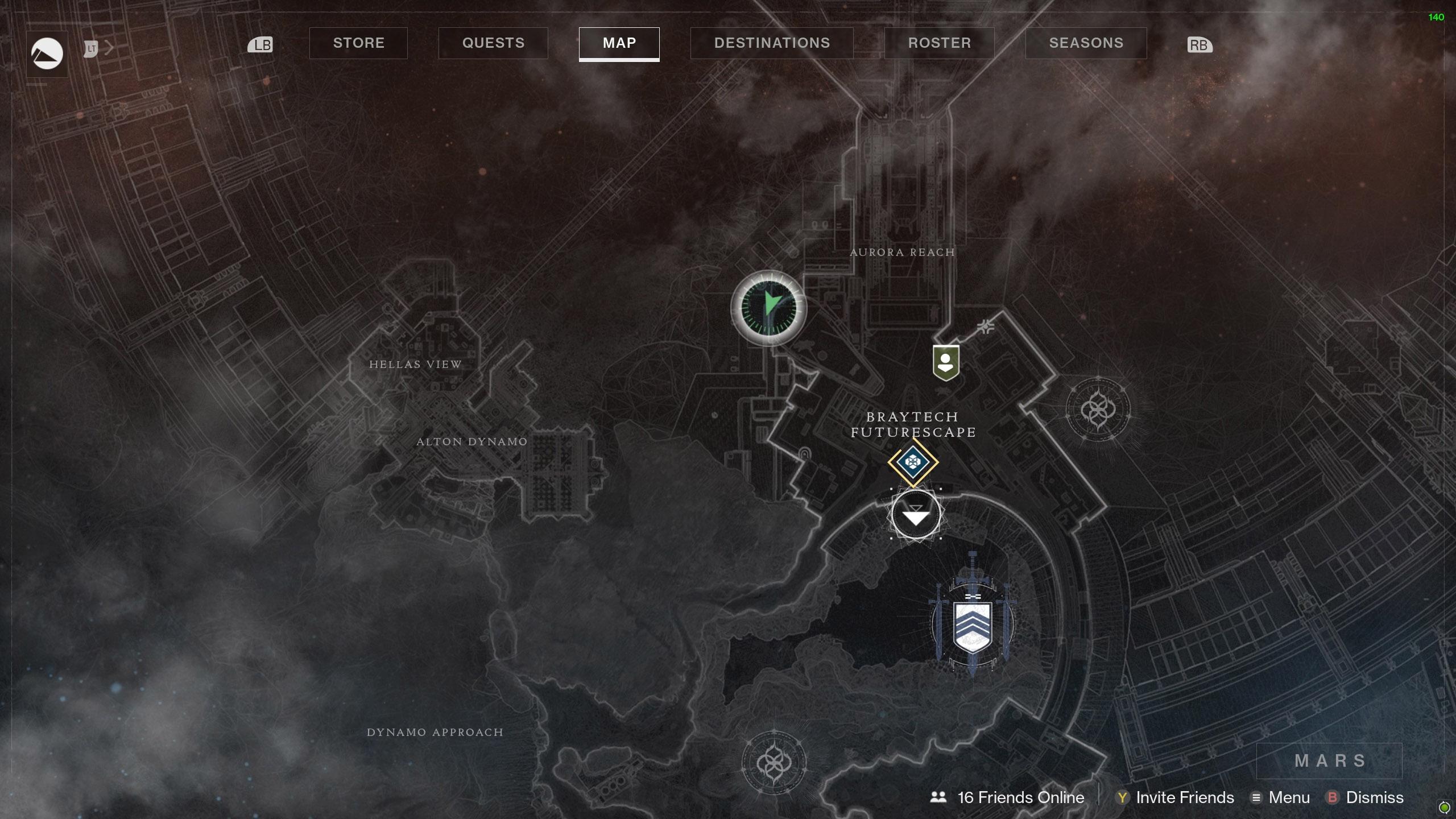 Destiny 2 Savathuns Eyes Mars Aurora Reach map