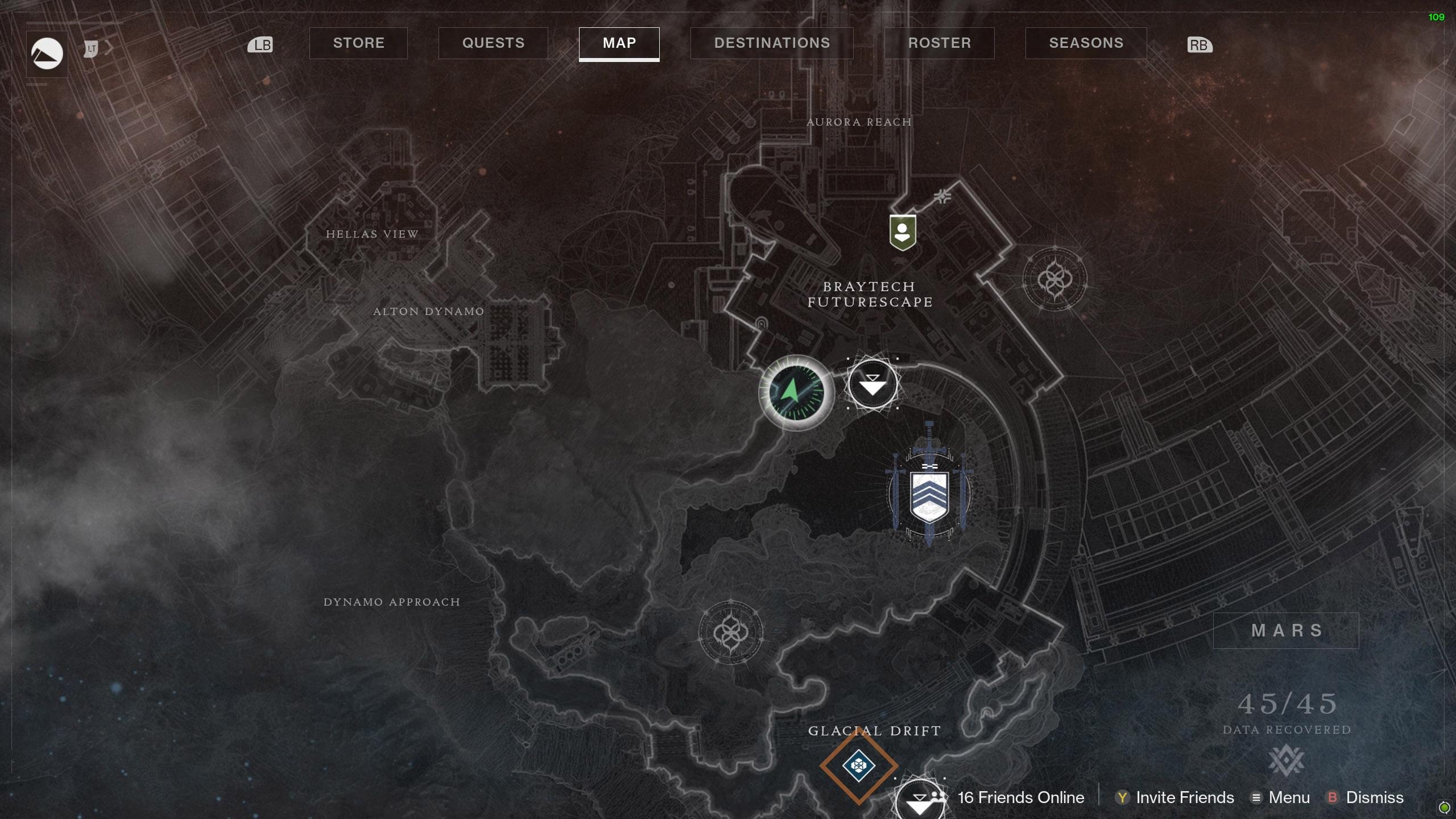Destiny 2 Savathuns Eyes Mars Braytech Futurescape 1 map