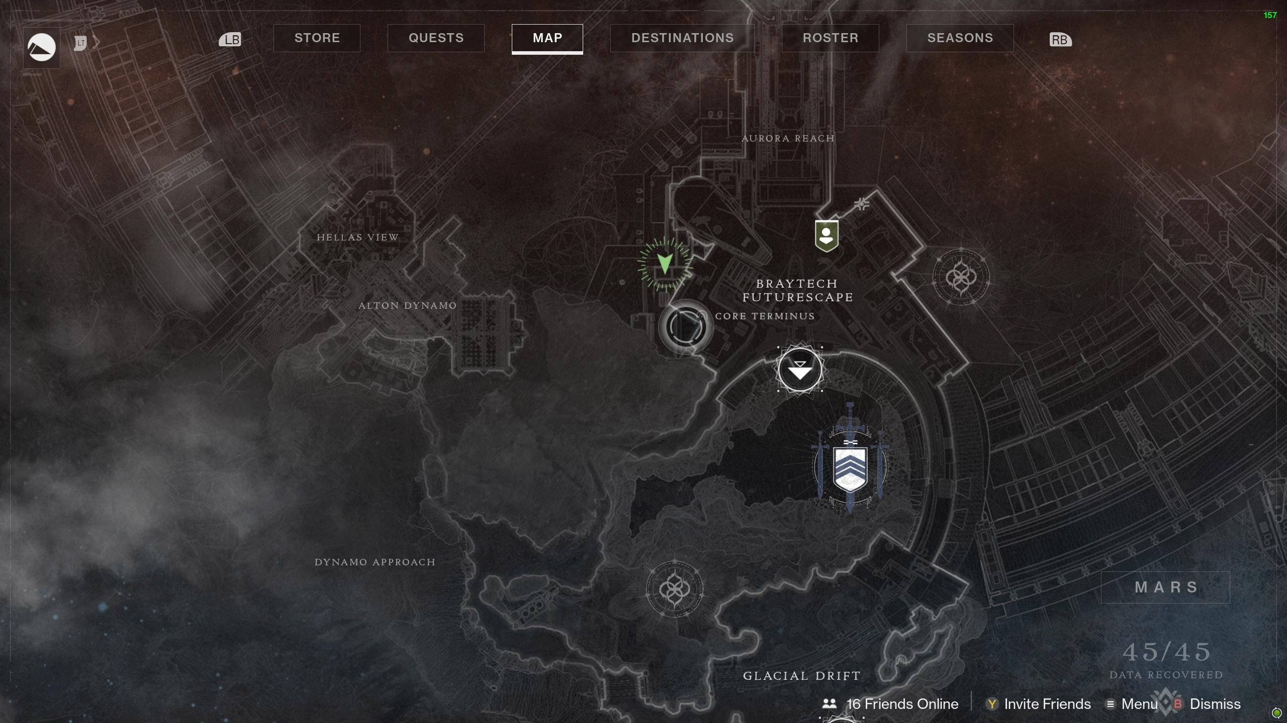 Destiny 2 Savathuns Eyes Mars Core Terminus map