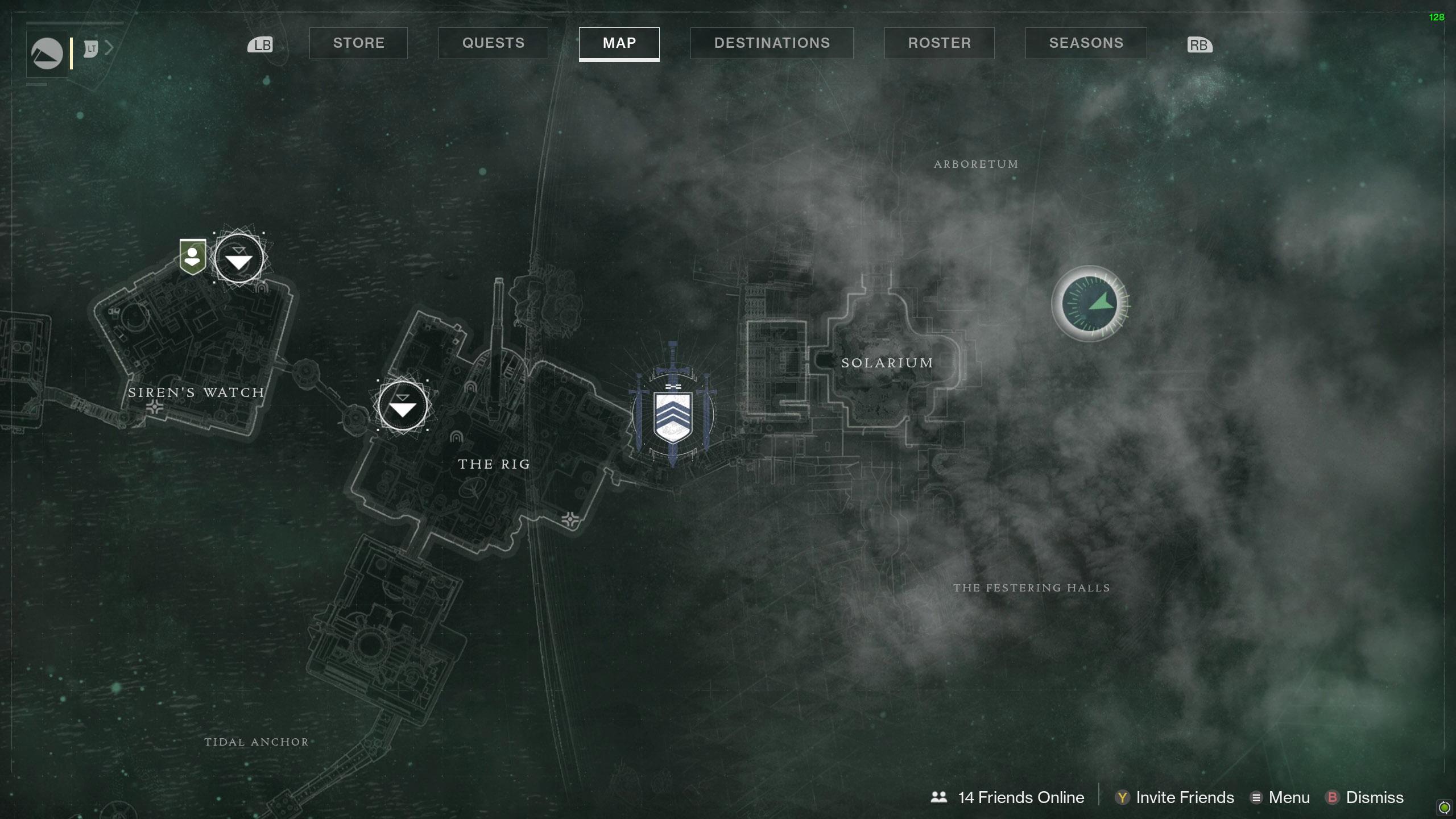 Destiny 2 Savathuns Eyes Titan Arboretum map