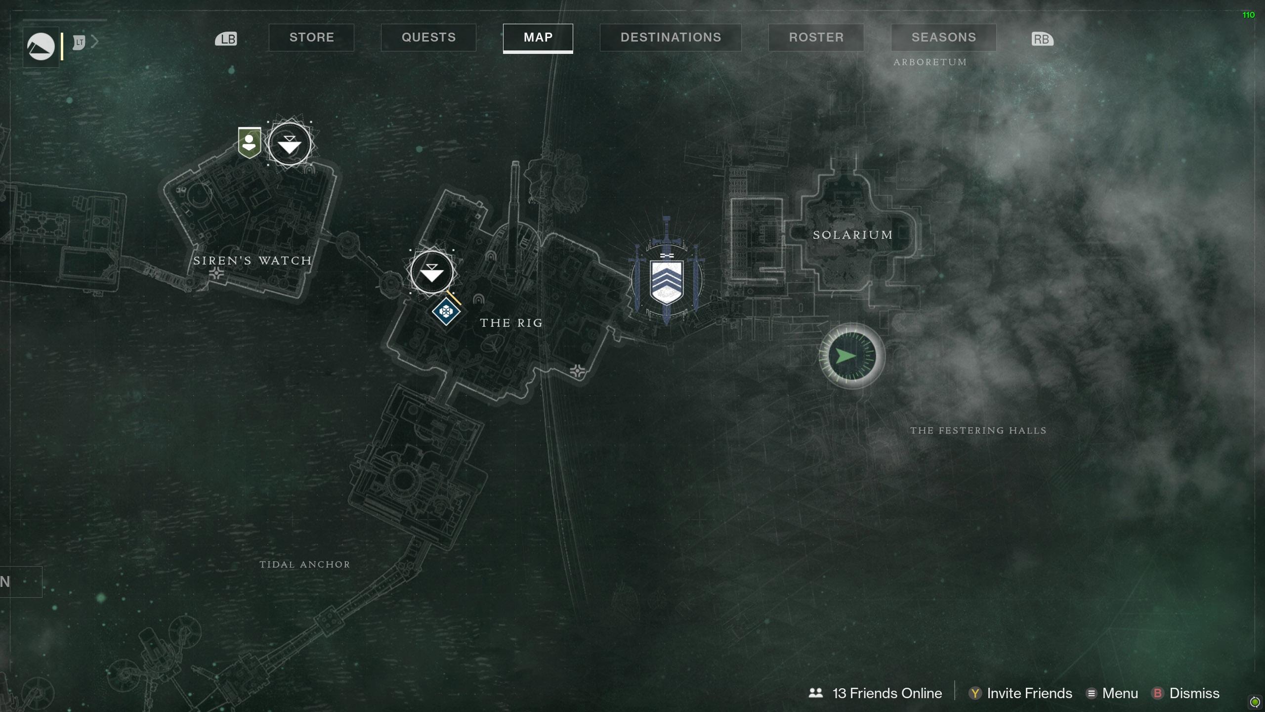 Destiny 2 Savanthuns Eyes Titan Festering Halls map