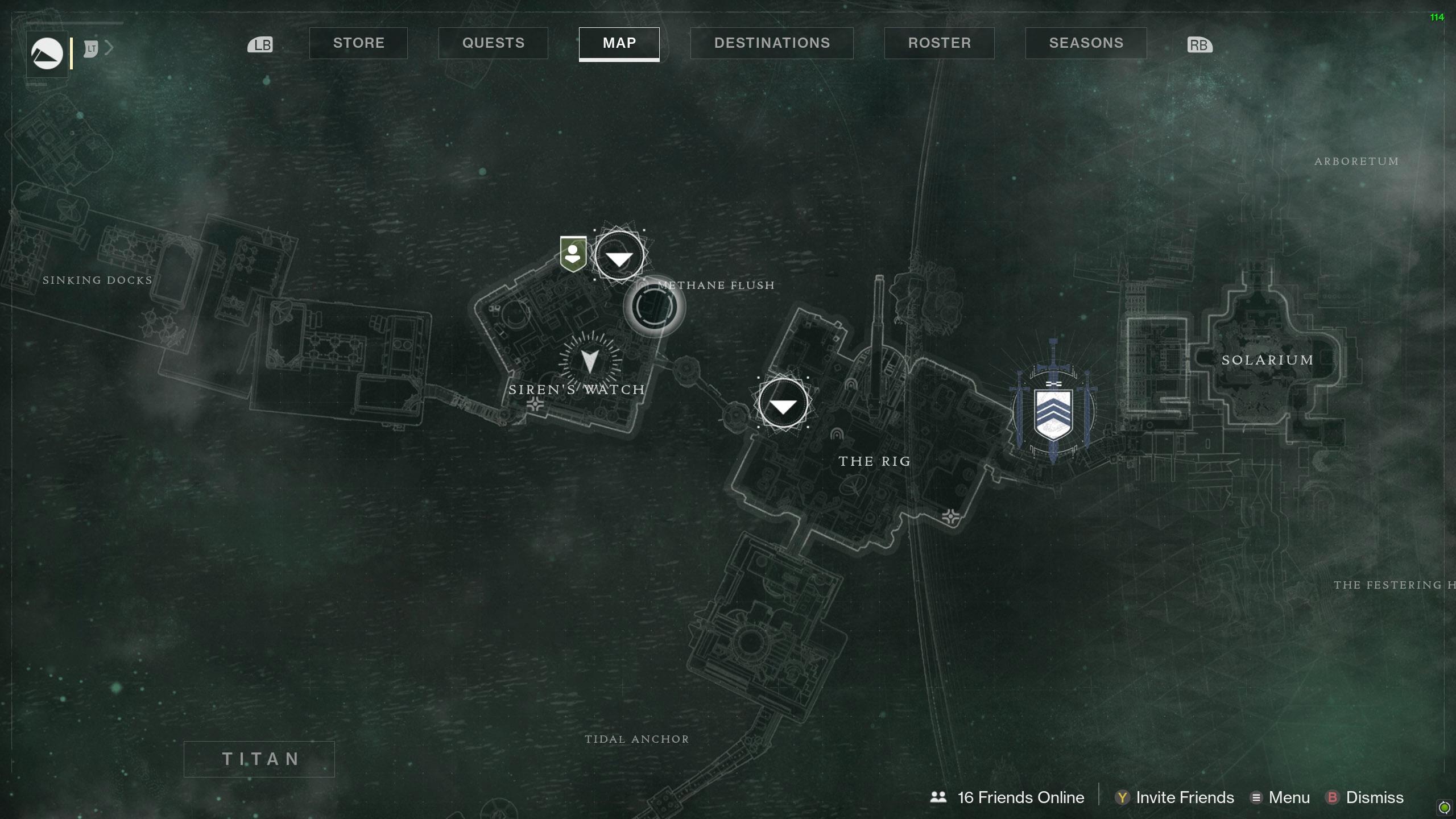 Destiny 2 Savanthuns Eyes Titan Methane Flush map