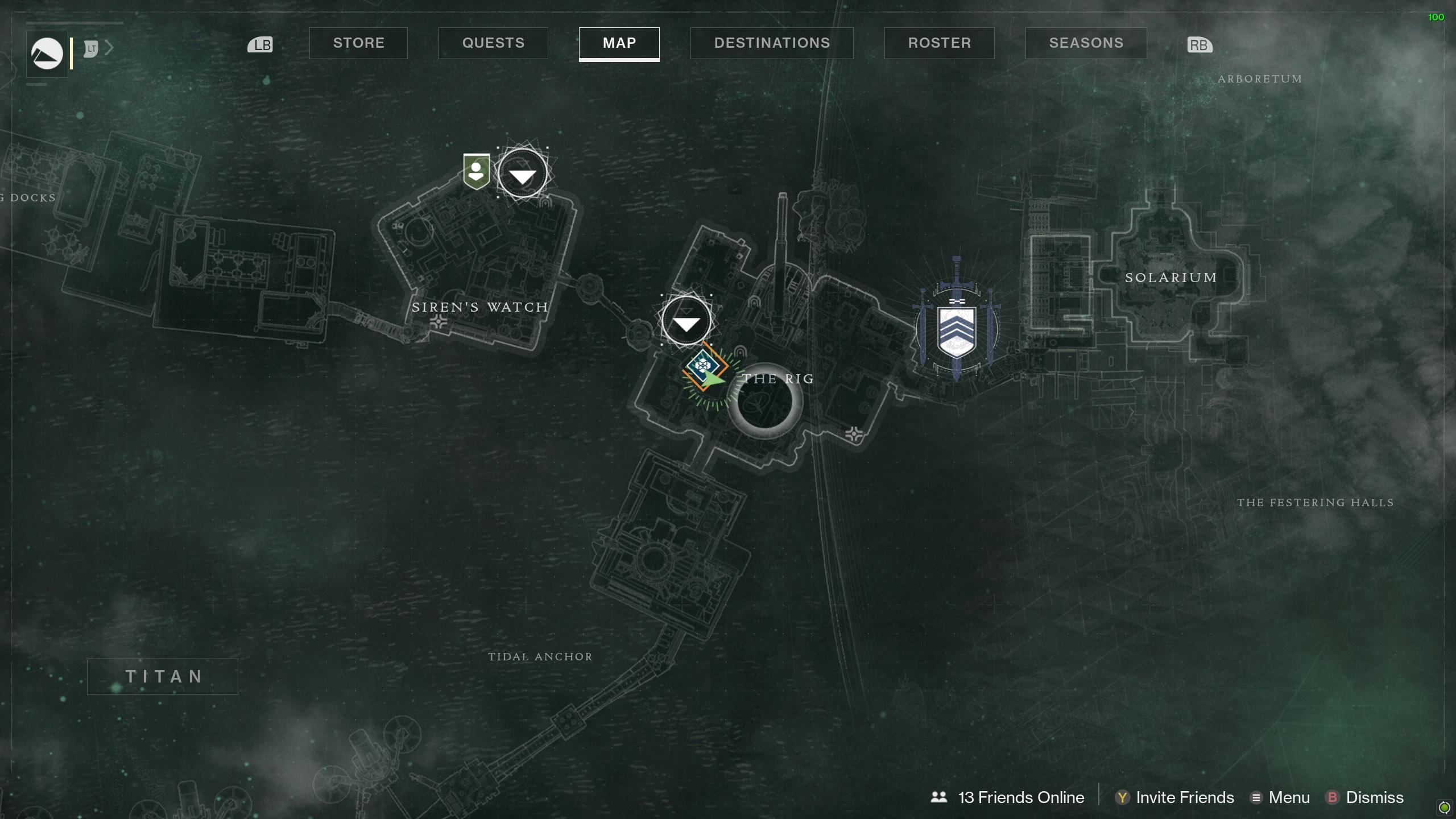 Destiny 2 Savanthuns Eyes Titan The Rig 1 map