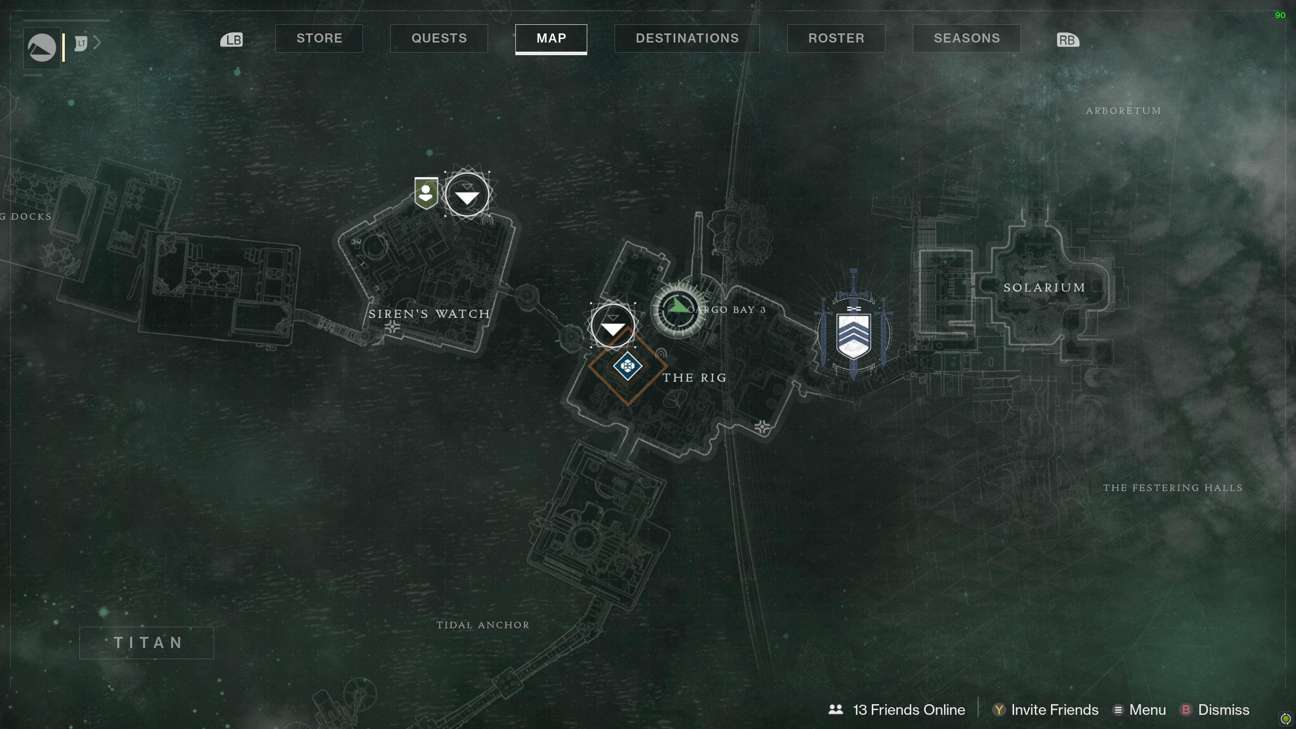 Destiny 2 Savanthuns Eyes Titan The Rig 2 map