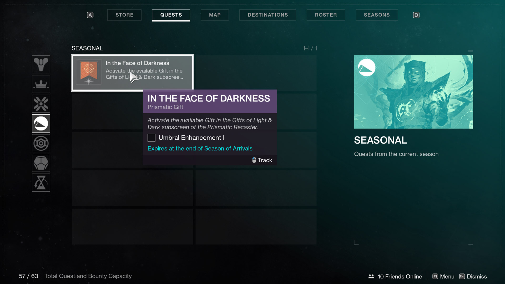destiny 2 season of arrivals in the face of darkness Prismatic Gift