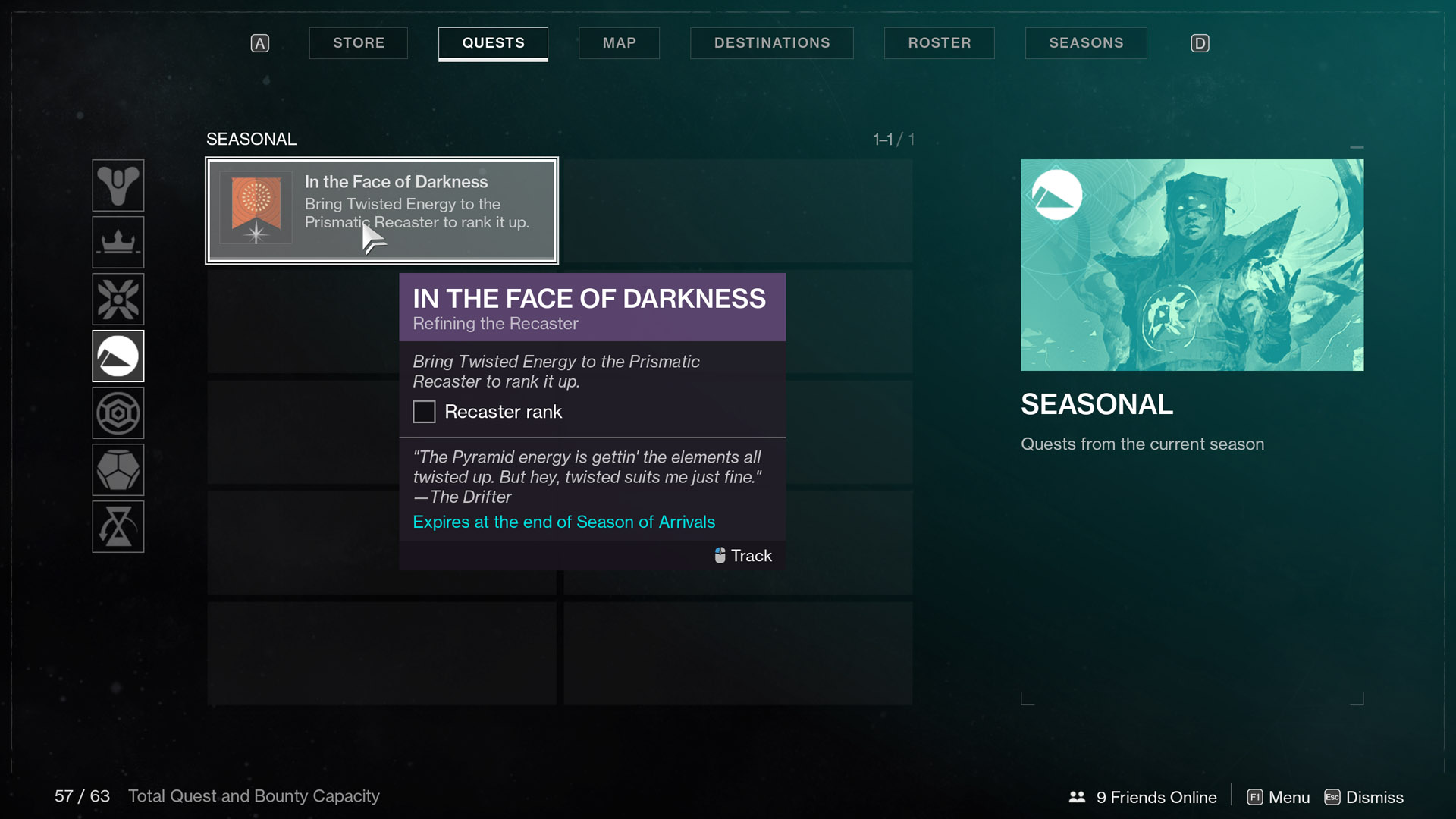 destiny 2 season of arrivals in the face of darkness Refining the Recaster