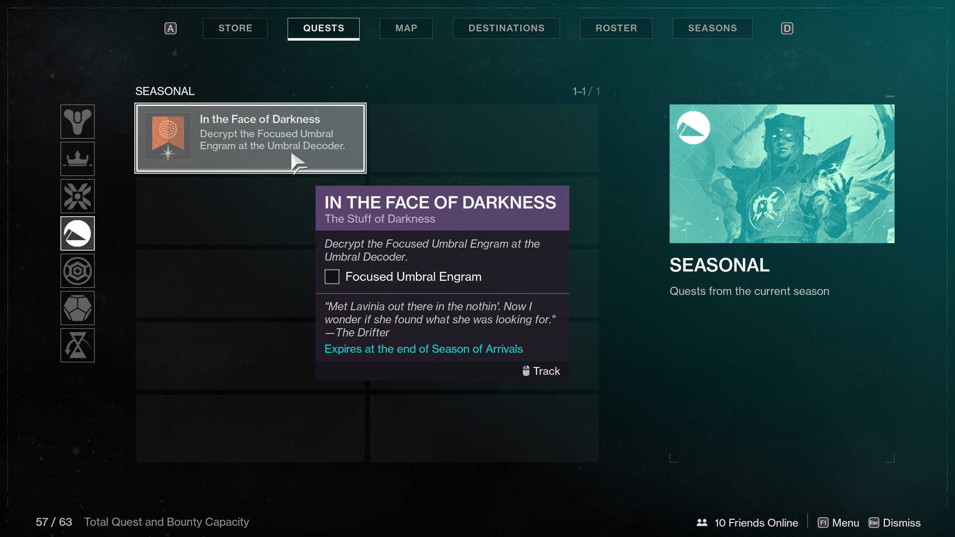 destiny 2 season of arrivals in the face of darkness The Stuff of Darkness