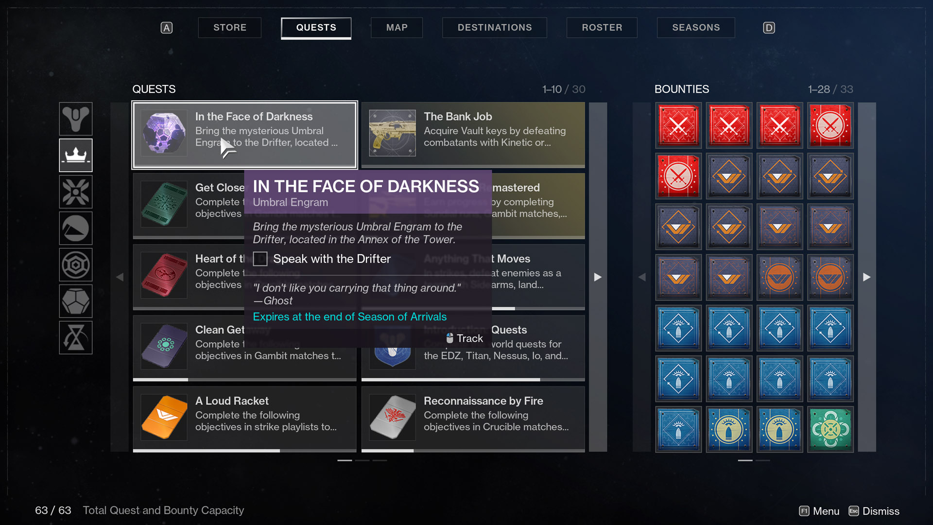 destiny 2 season of arrivals in the face of darkness umbral engram