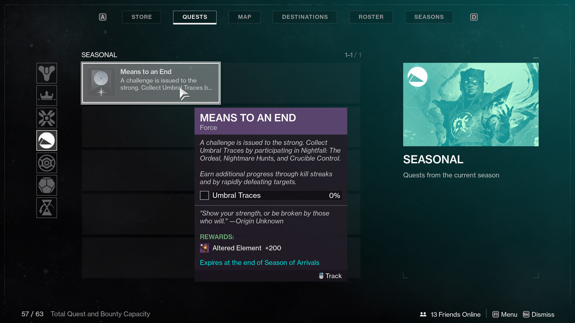 destiny 2 season of arrivals Means to an End Force