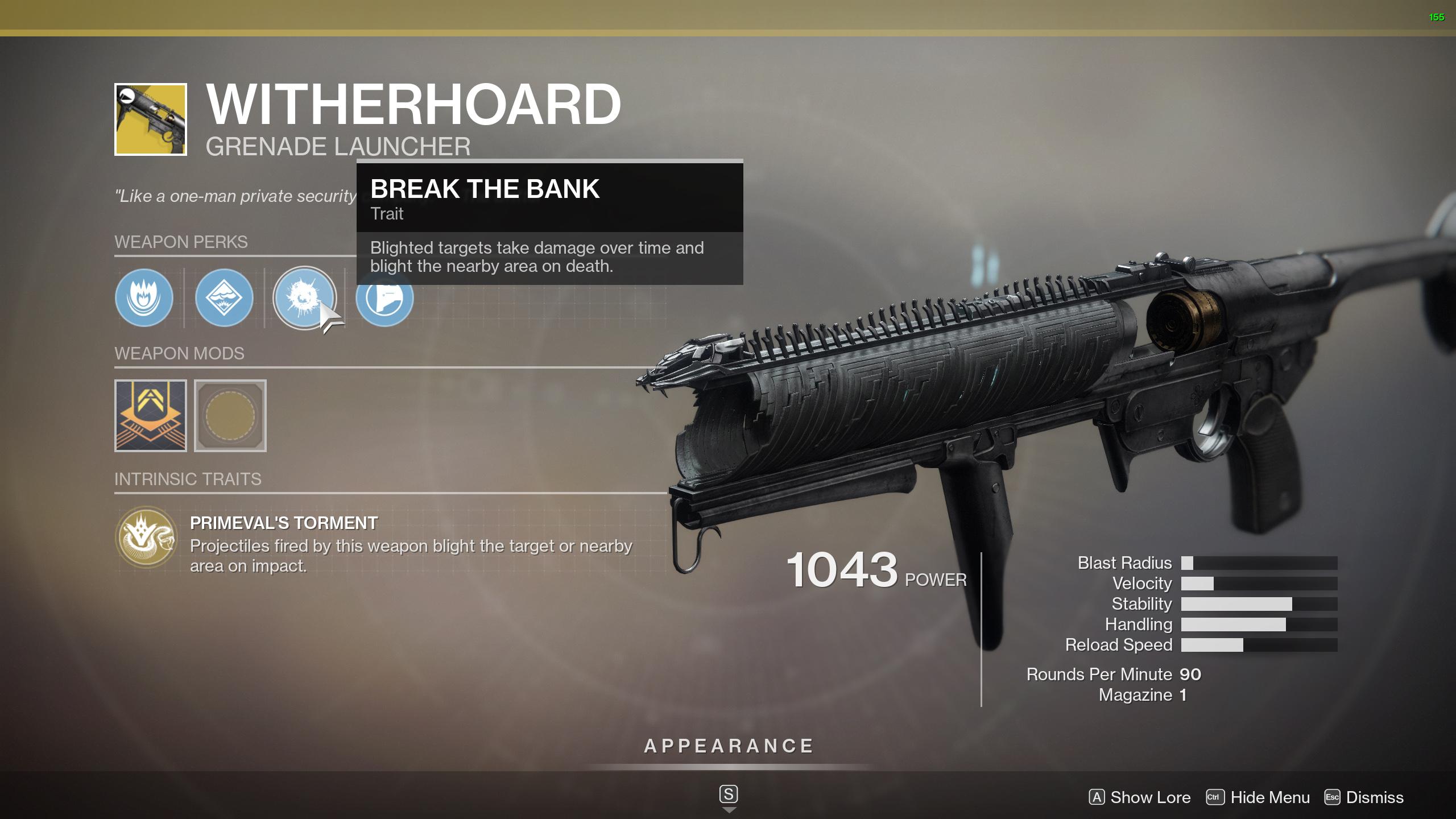 destiny 2 witherhoard perks