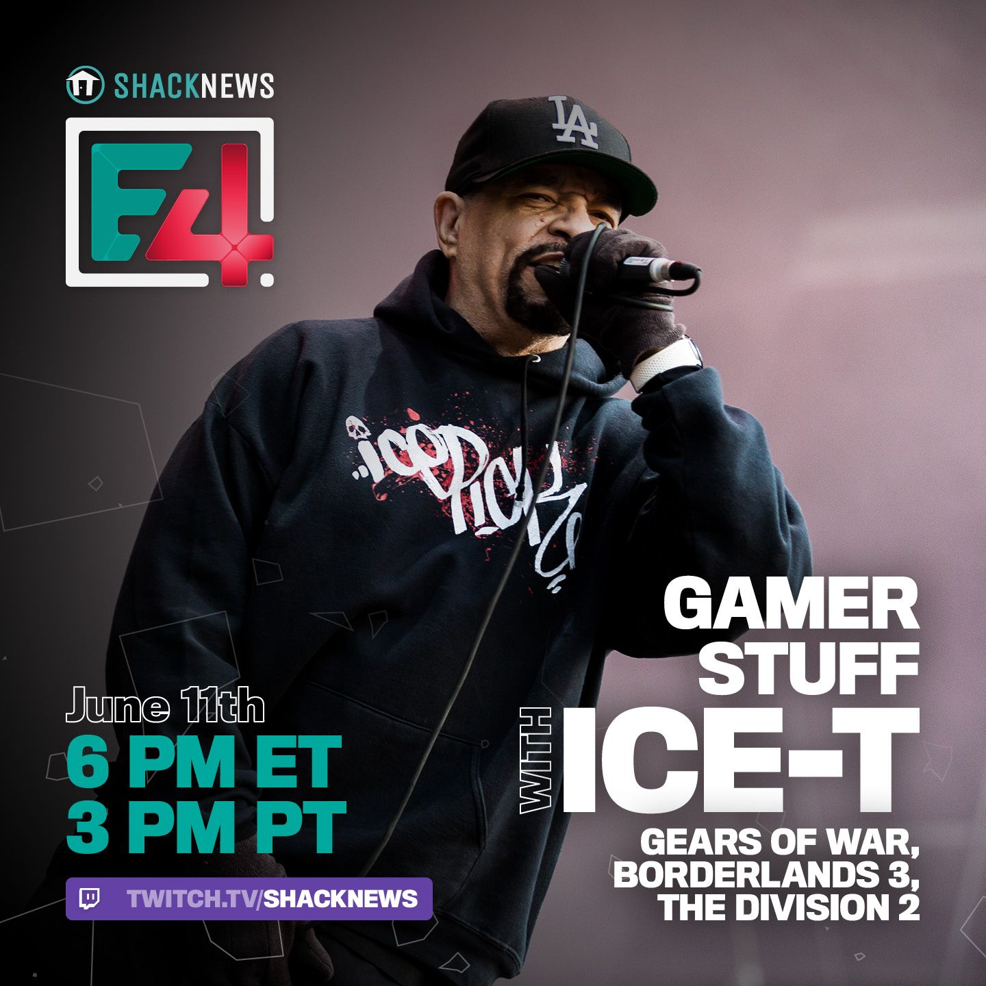 ICE-T and Shacknews are teaming up for a very special E4 livestream!