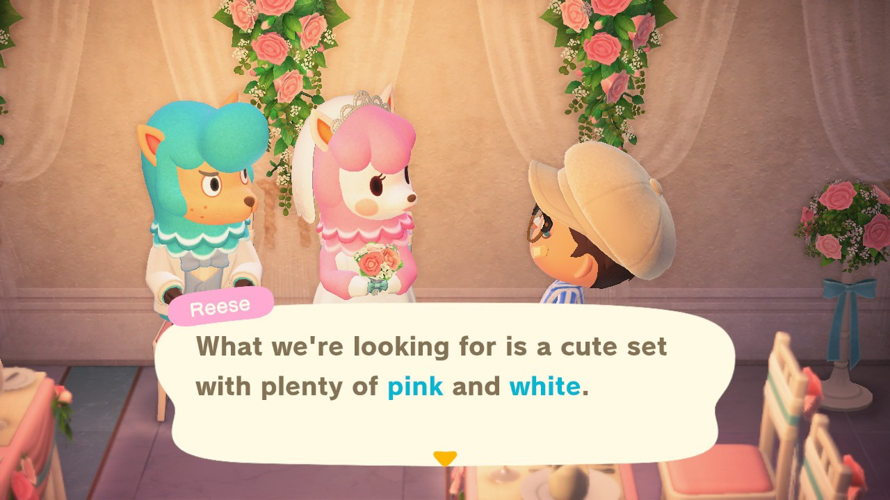 Follow the theme that Reese asks - Animal Crossing: New Horizons