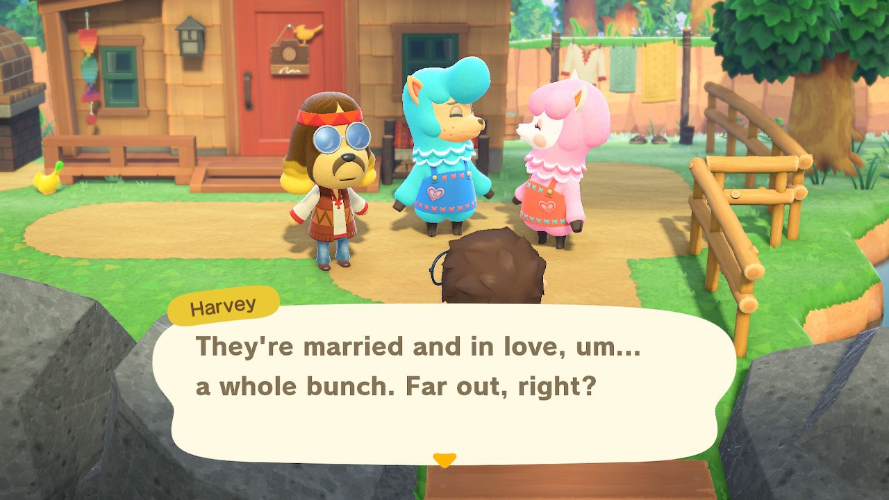 Harvey asking you to plan the wedding day shoots - Animal Crossing: New Horizons