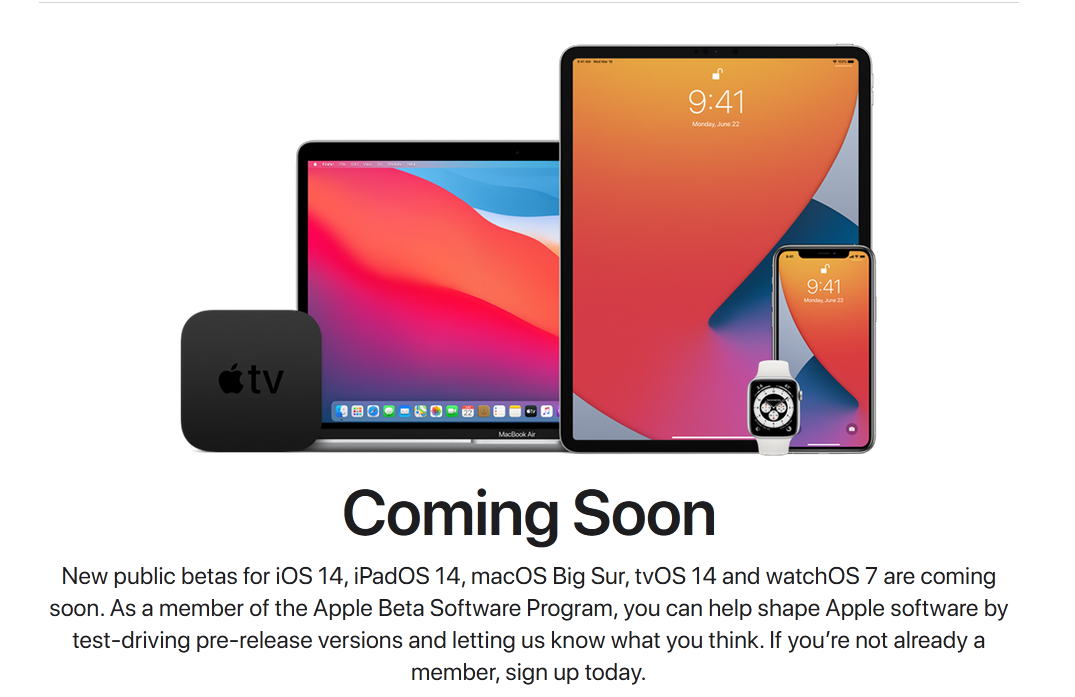 ios 14 release date and beta signup
