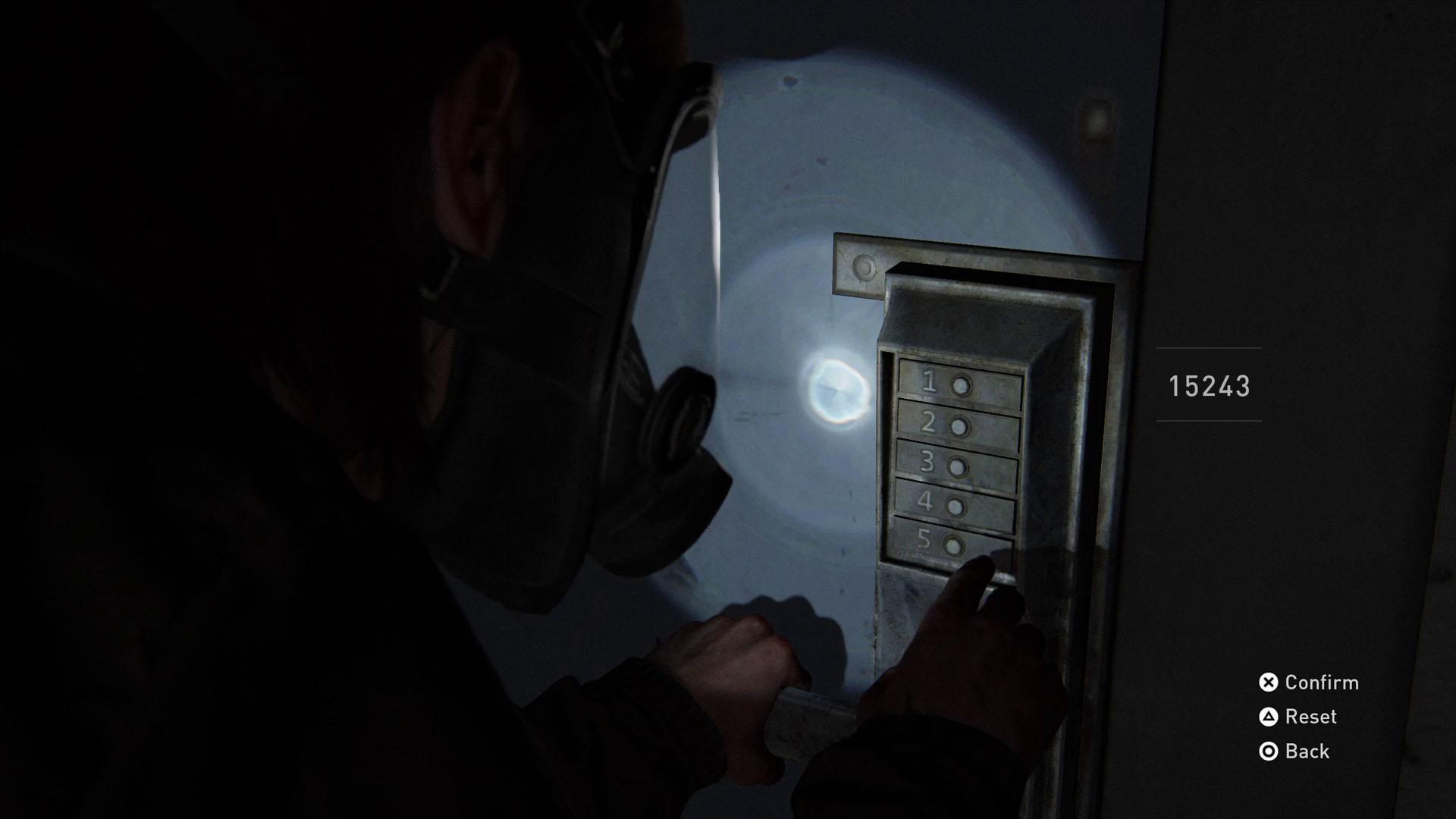 The Last of Us 2 safe codes - locker room door