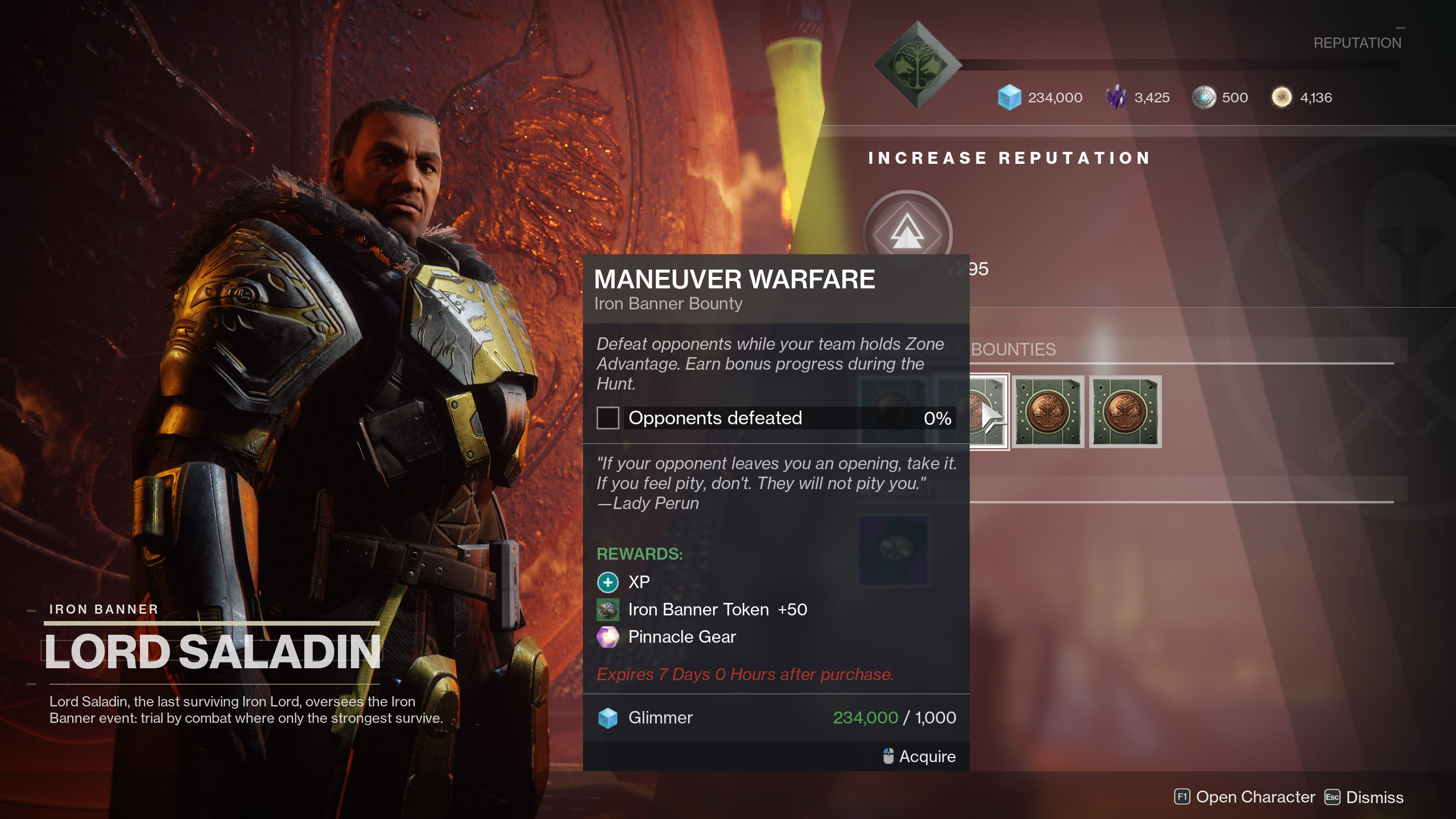 Maneuver Warfare Iron Banner Bounty