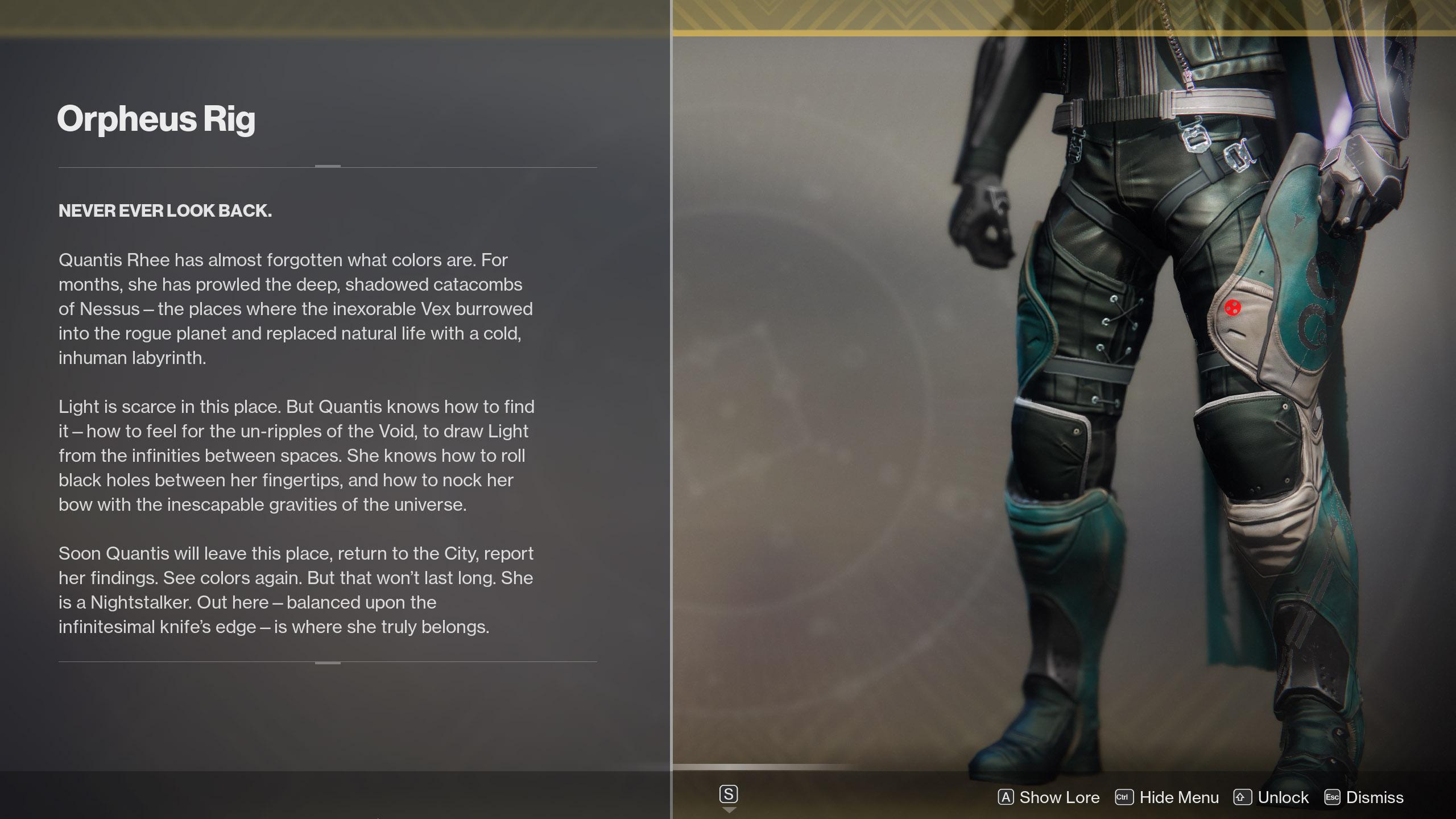 Orpheus Rig Lore Destiny 2