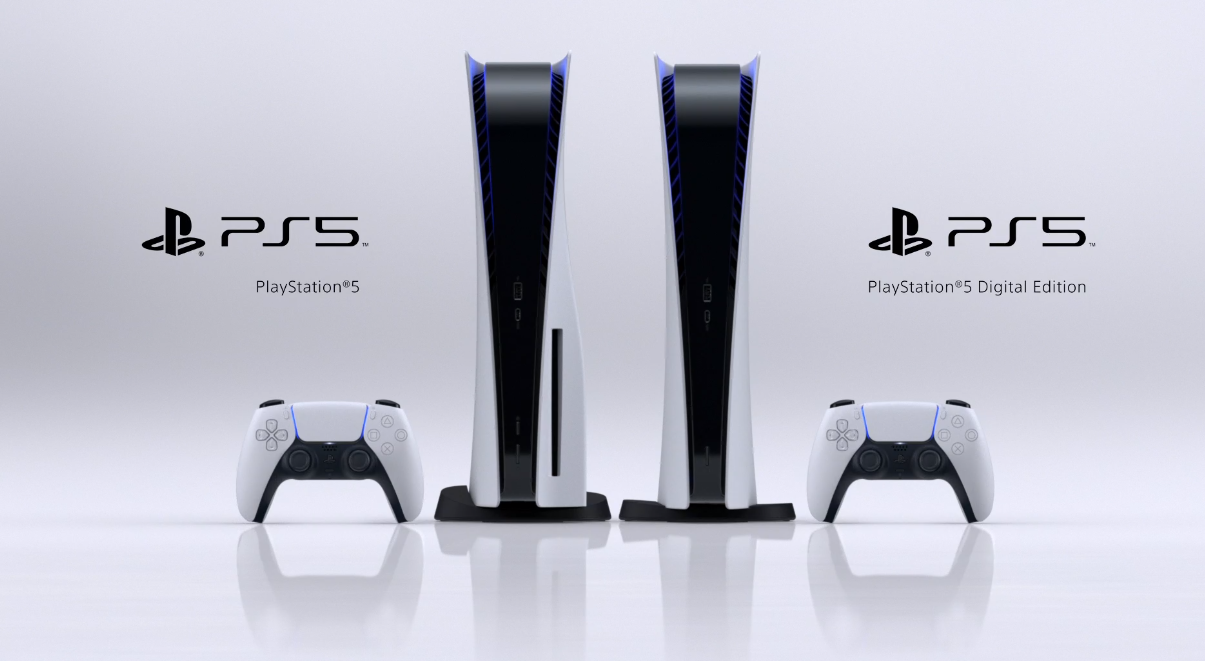 the two versions of the PS5 side by side