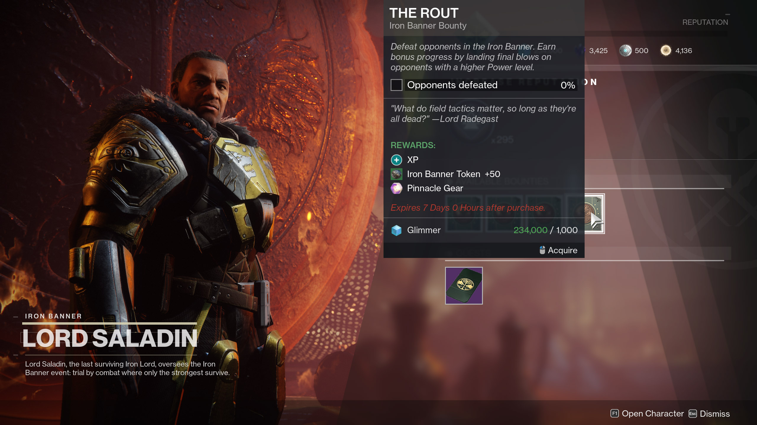 The Rout Iron Banner Bounty