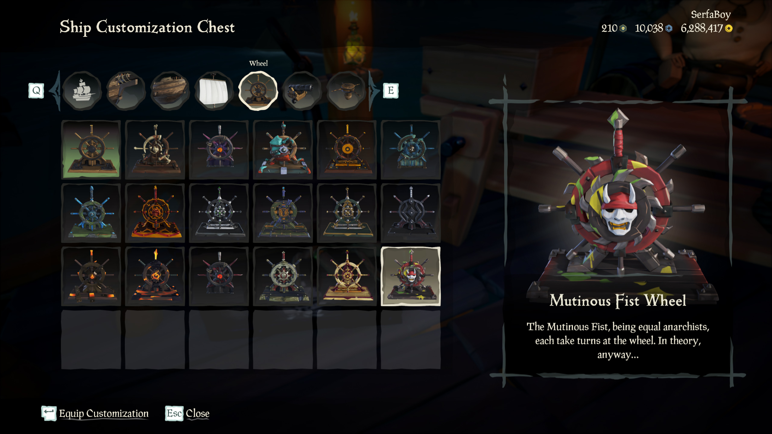 Sea of Thieves June Twitch Drops Mutinous Fist Wheel