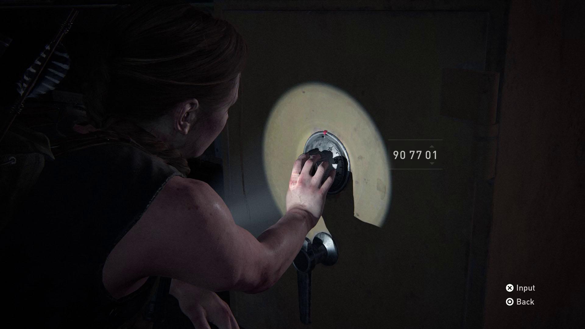 The Last of Us 2 safe codes - ship bridge stash
