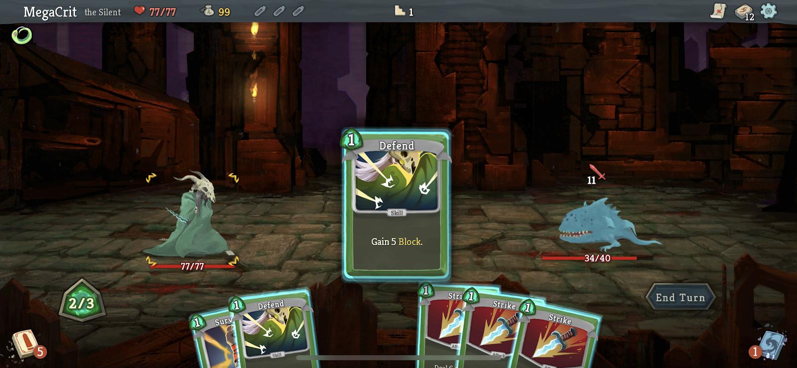 An iOS screenshot for Slay the Spire