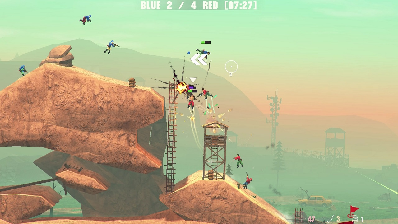 Soldat 2's gunplay and physics is easily accessible and satisfying in a way that invites pick-up-and-play fun and chaos.