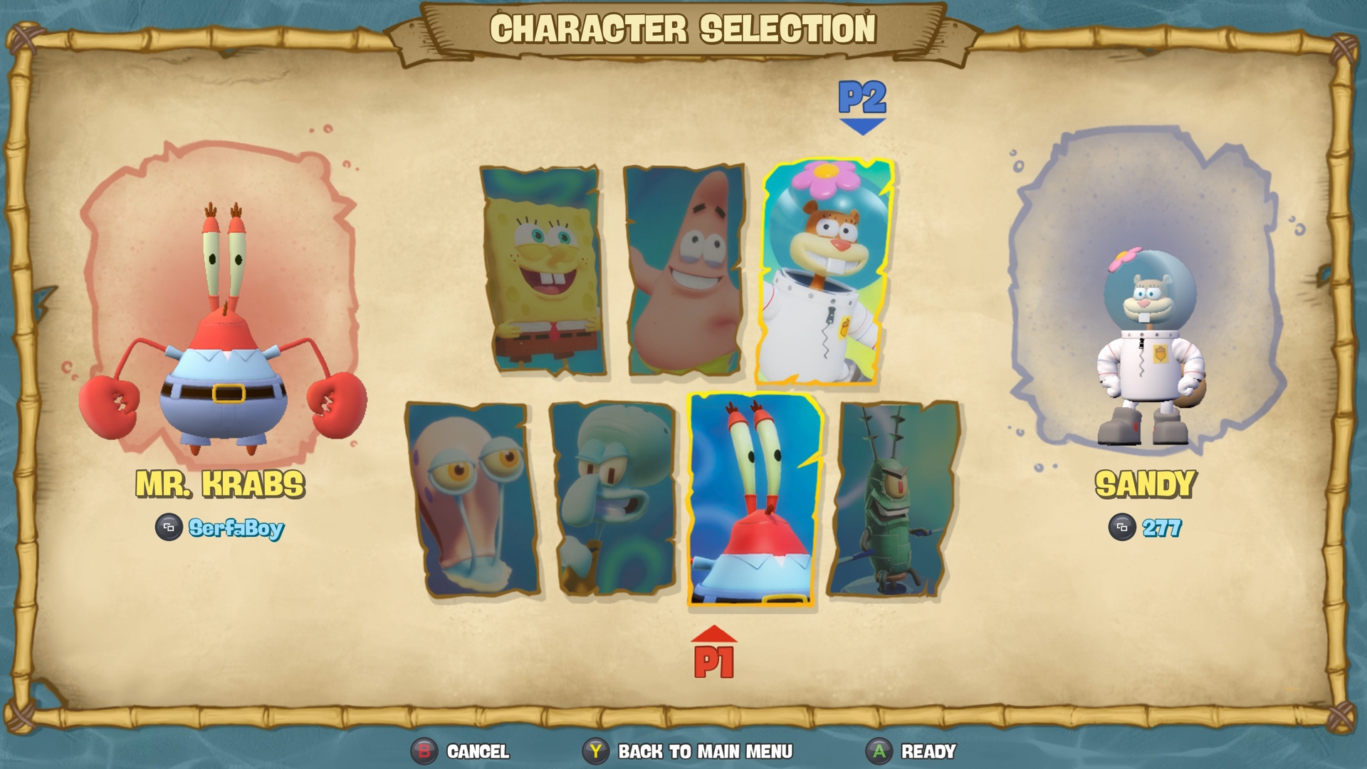 Spongebob rehydrated multiplayer characters