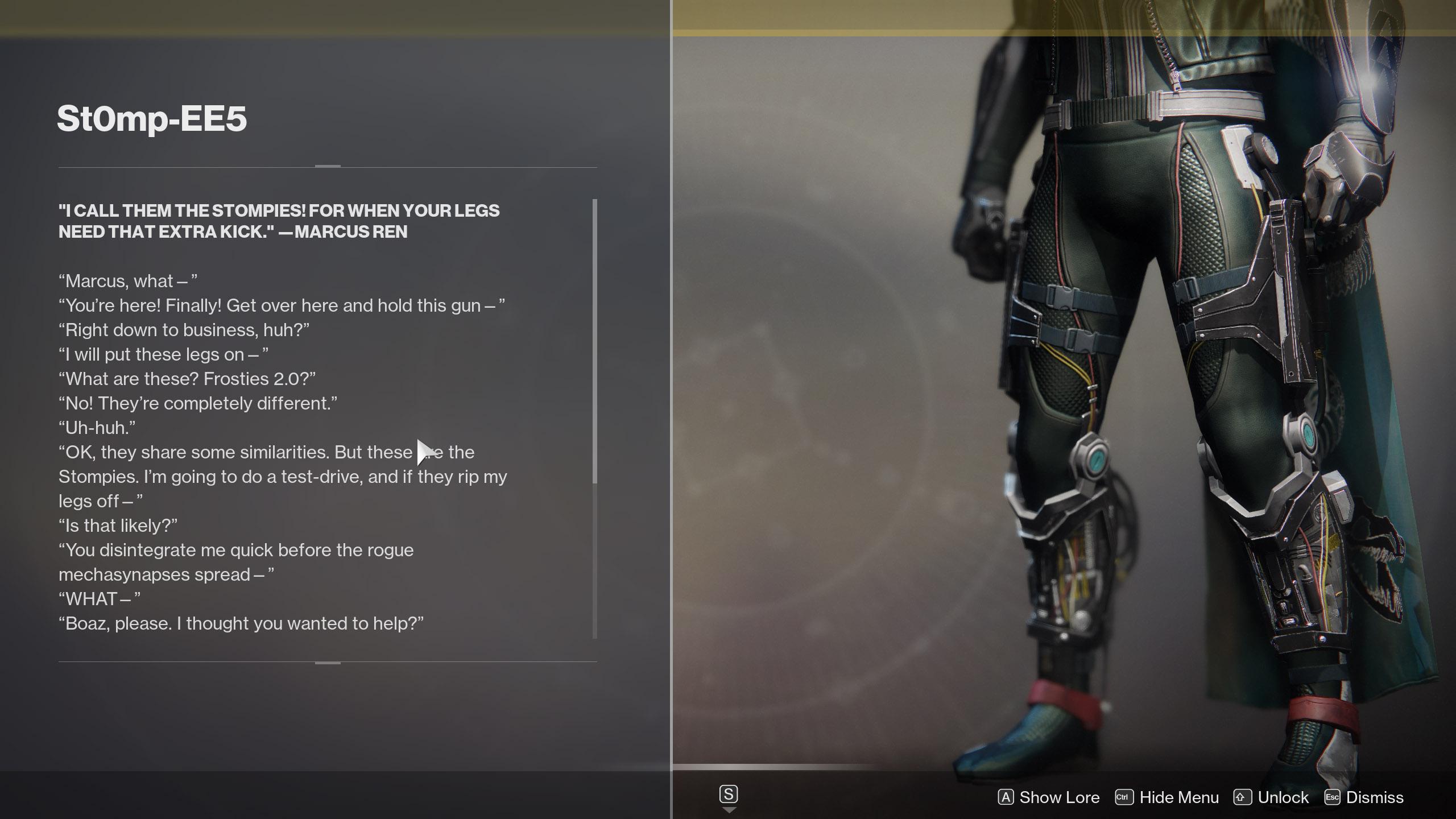 St0mp-EE5 Lore Destiny 2
