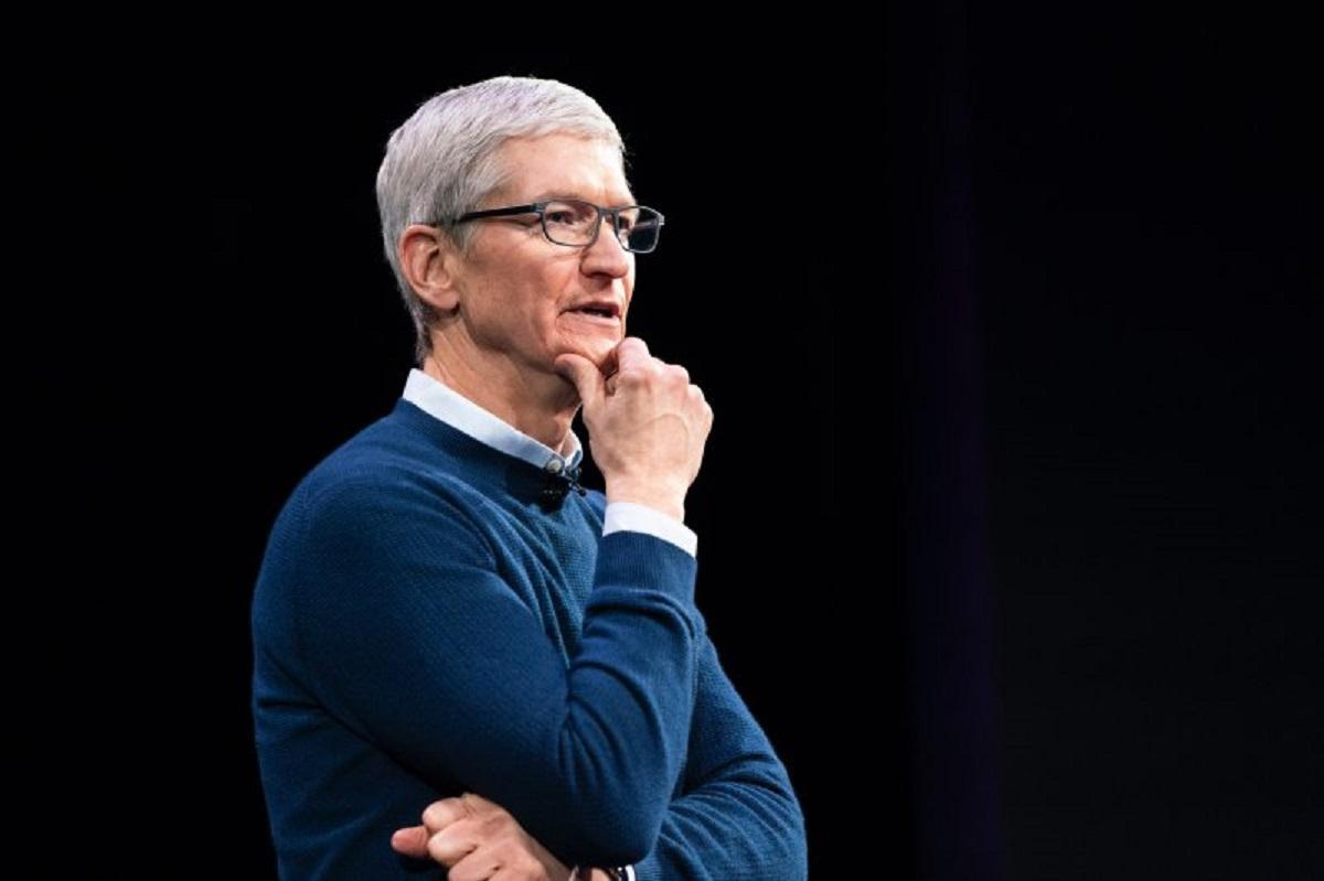 Tim Cook seen here thinking different.