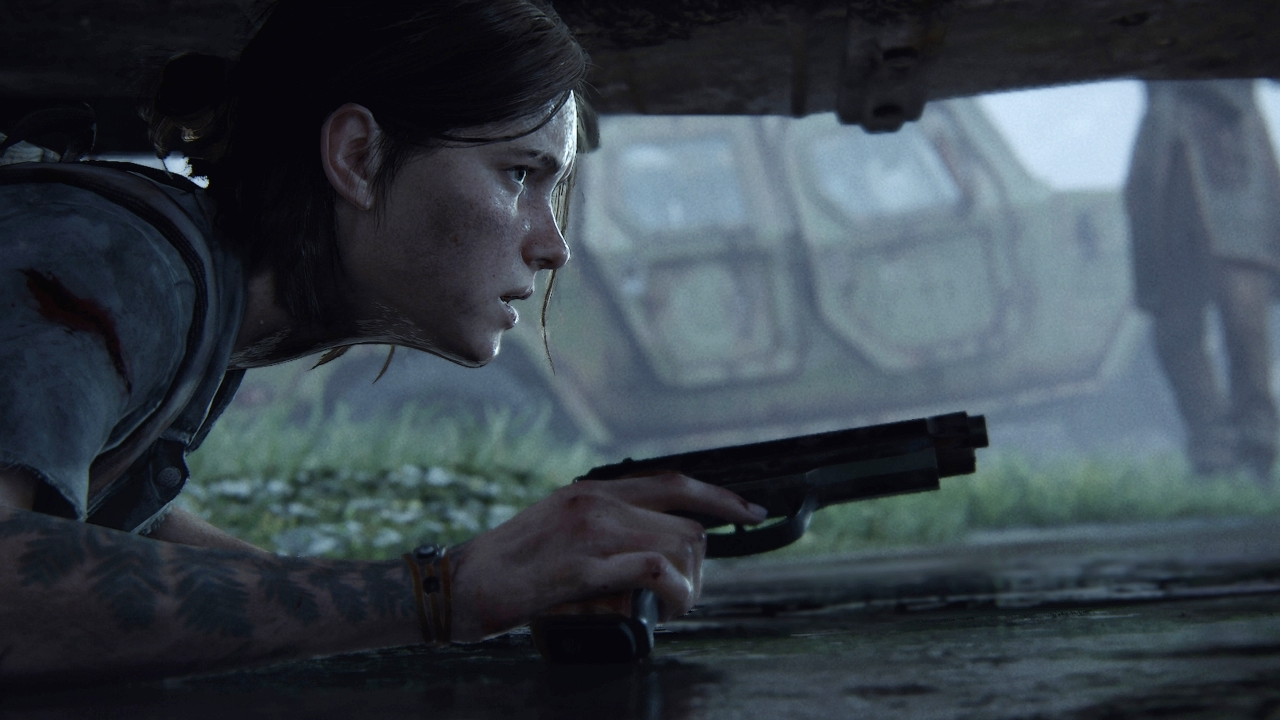 the last of us part 2 ellie sneaking